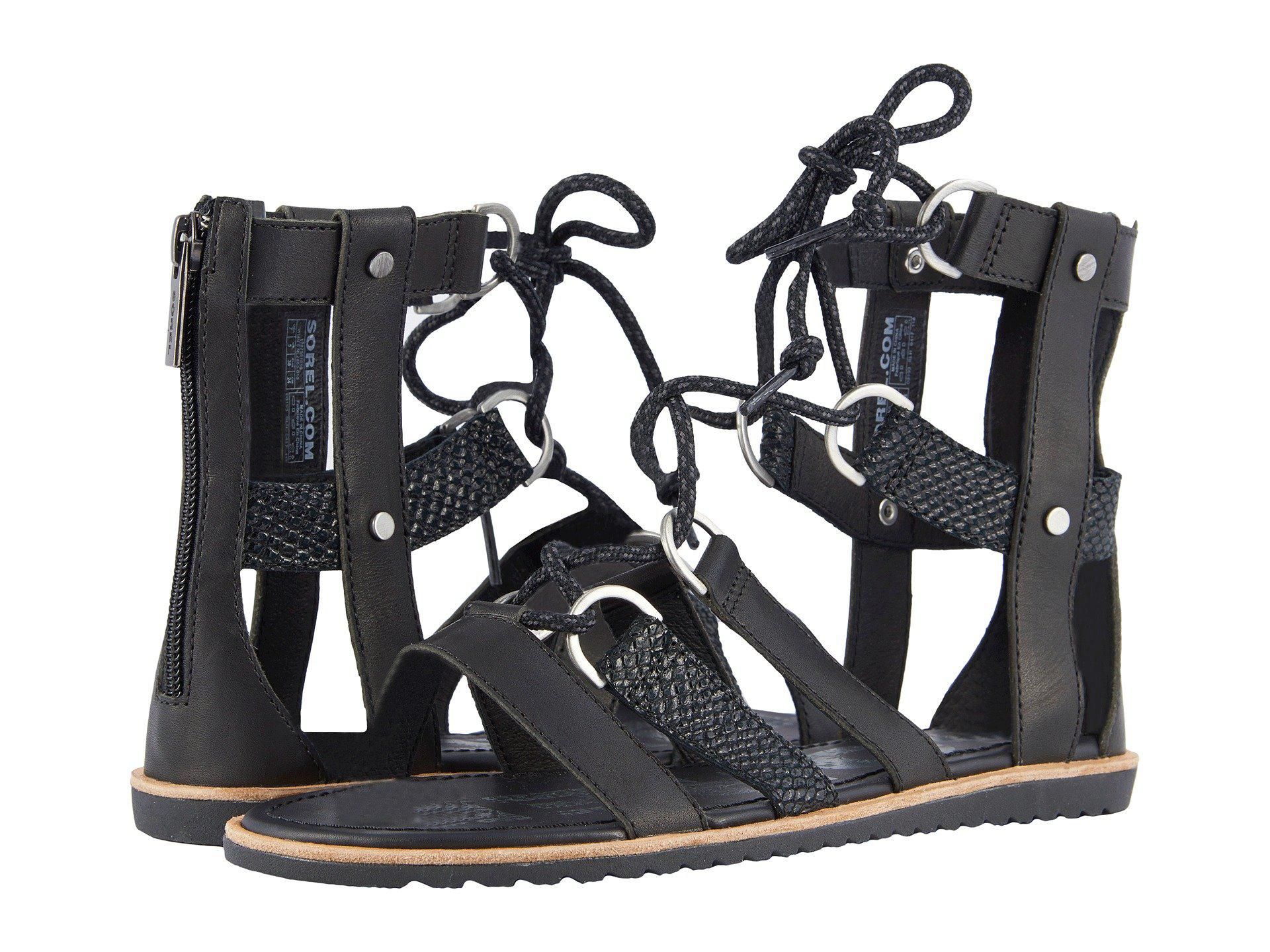 353e8b93366 Lyst - Sorel Ella Lace-up (black) Women s Lace Up Casual Shoes in Black
