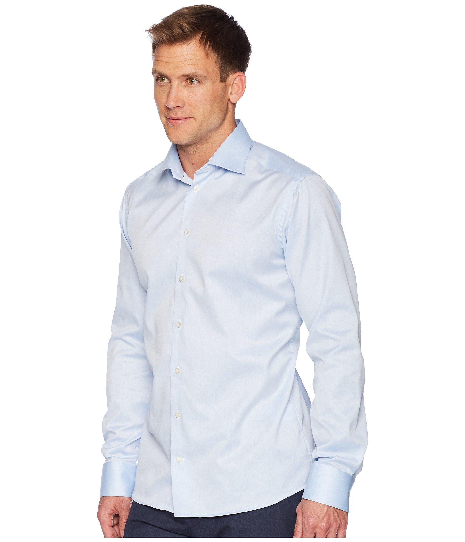 c7c6cba57c0 Lyst - Eton of Sweden Slim Fit Twill Shirt (white) Men s Clothing in Blue  for Men