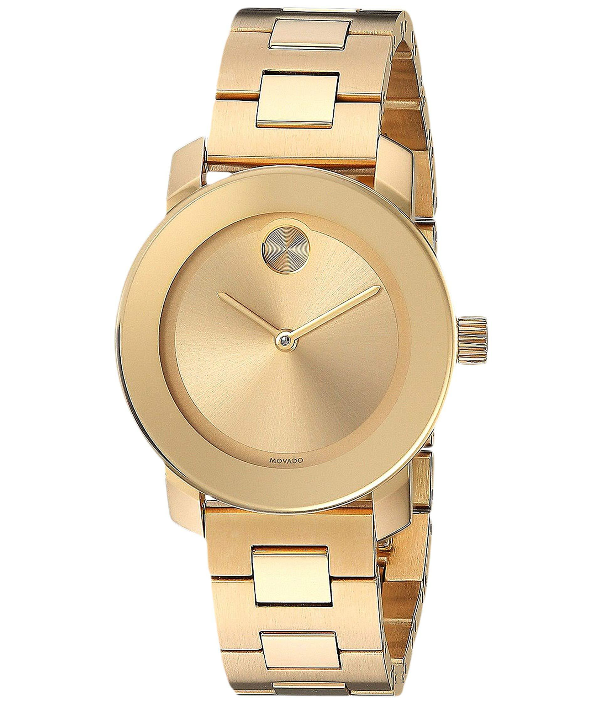 378649c180a Lyst - Movado Bold - 3600434 (ionic Gold Plated Steel) Watches in ...