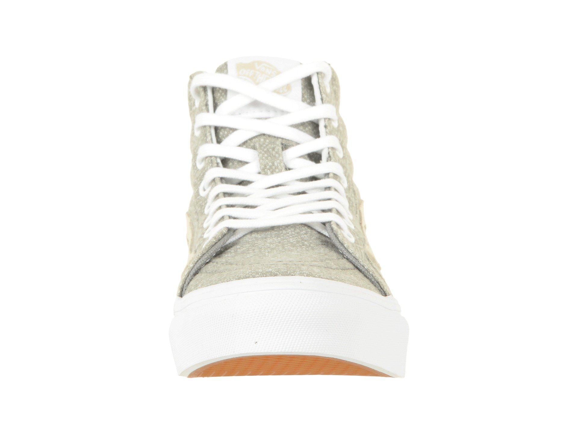 7ed636328e Lyst - Vans Sk8-hi Slim in White
