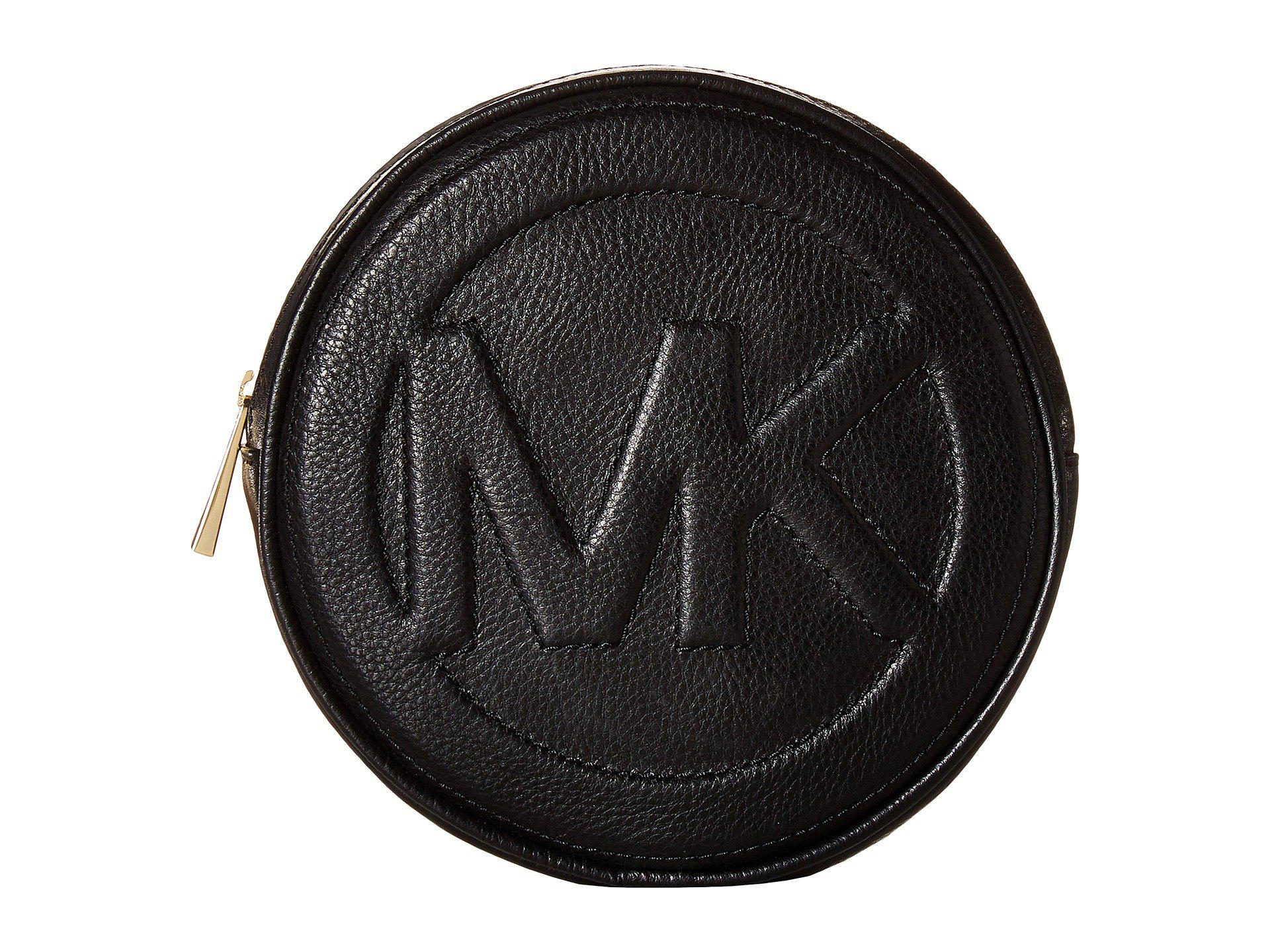 a56f946ff036 ... spain lyst michael michael kors round bombe logo belt bag in black  e8456 7cb27