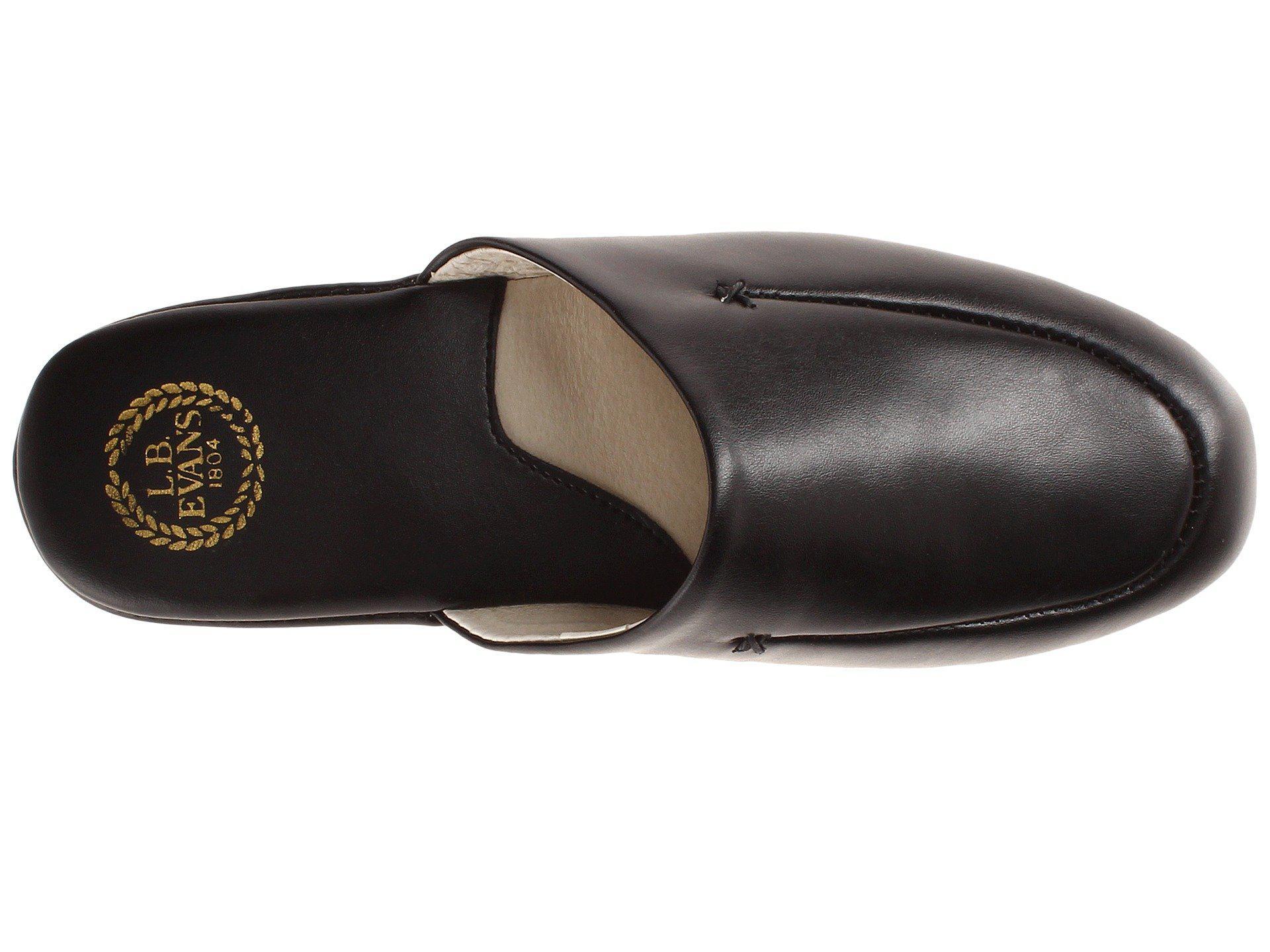 463122963cd L.B. Evans - Duke Scuff (black Leather) Men s Slippers for Men - Lyst. View  fullscreen