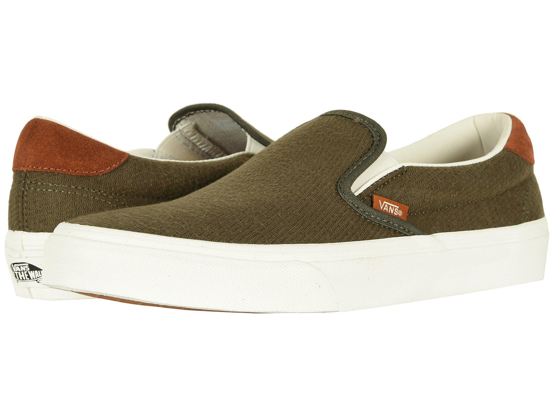 d5451634711f Lyst - Vans Slip-on 59 ((flannel) Dusty Olive) Skate Shoes in Green ...