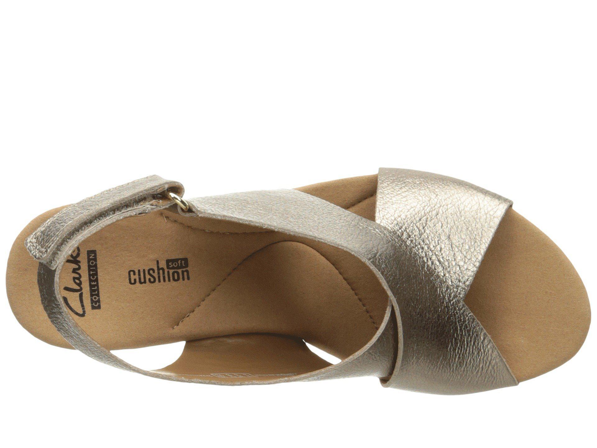 b54aaf94ba4f Clarks - Metallic Annadel Eirwyn (white Leather) Women s Sandals - Lyst.  View fullscreen