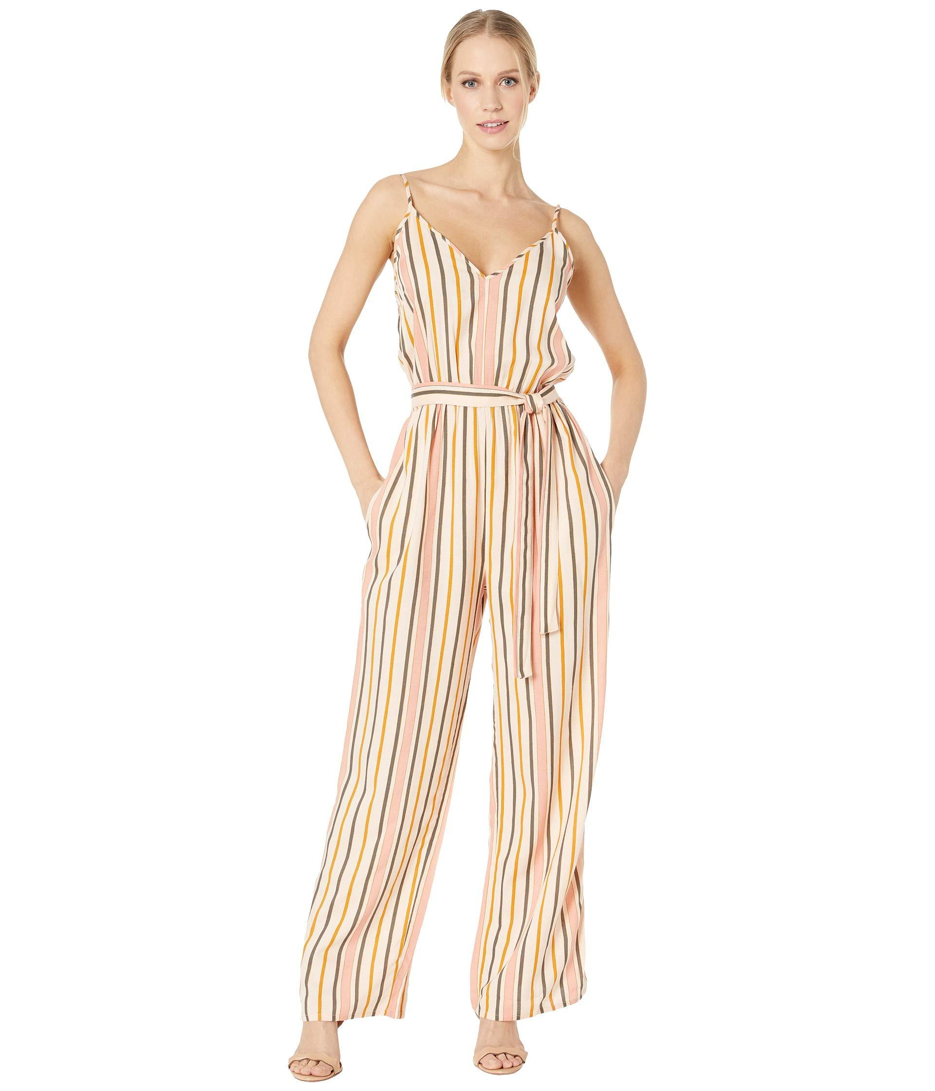 fa4bcedc196 Roxy. Natural Cha Cha For Now Woven Jumpsuit (cream Tan Macy Stripe Swim) Women s  Jumpsuit   Rompers One Piece