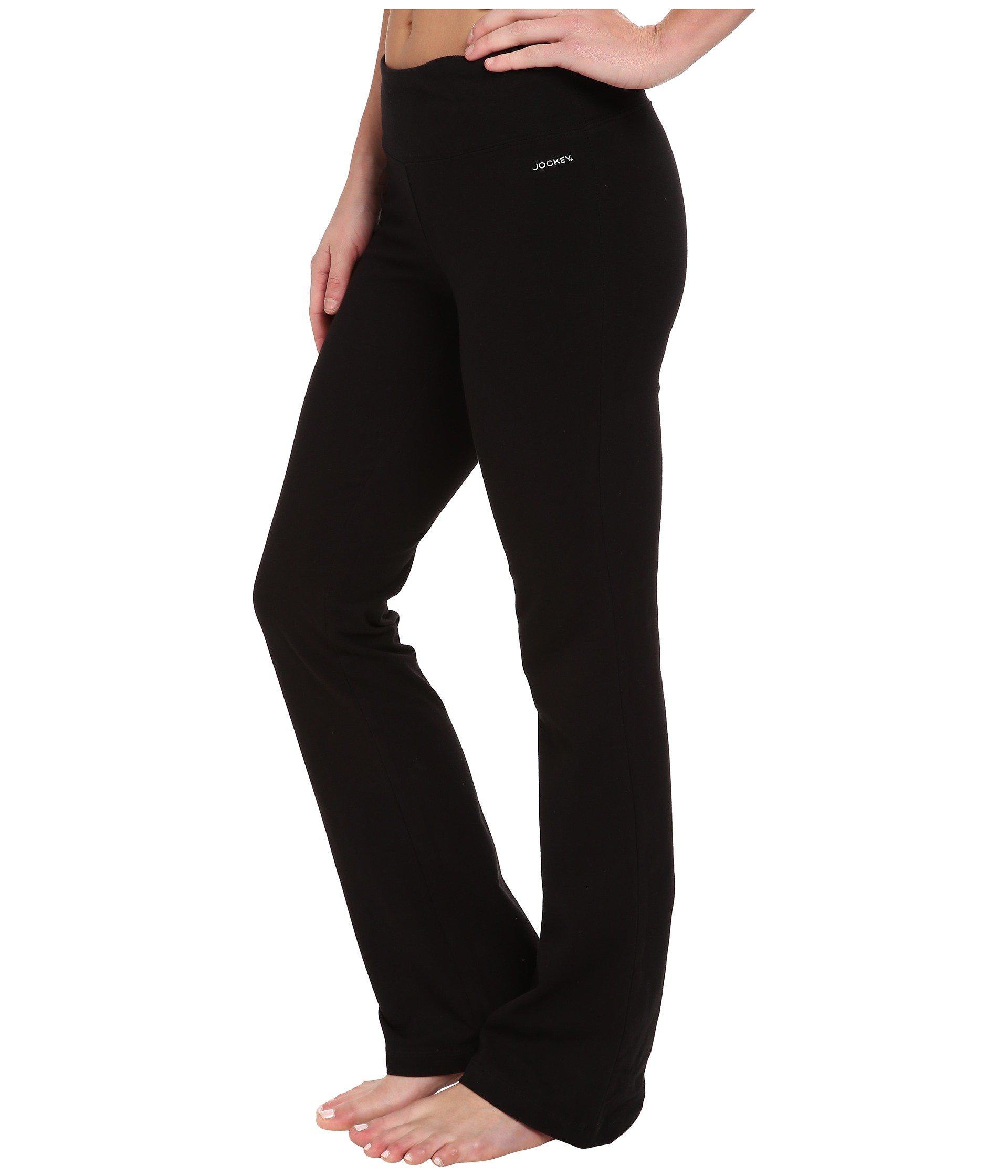 6e62adefb9f58 Lyst - Jockey Active Slim Bootleg (charcoal) Women's Casual Pants in Black
