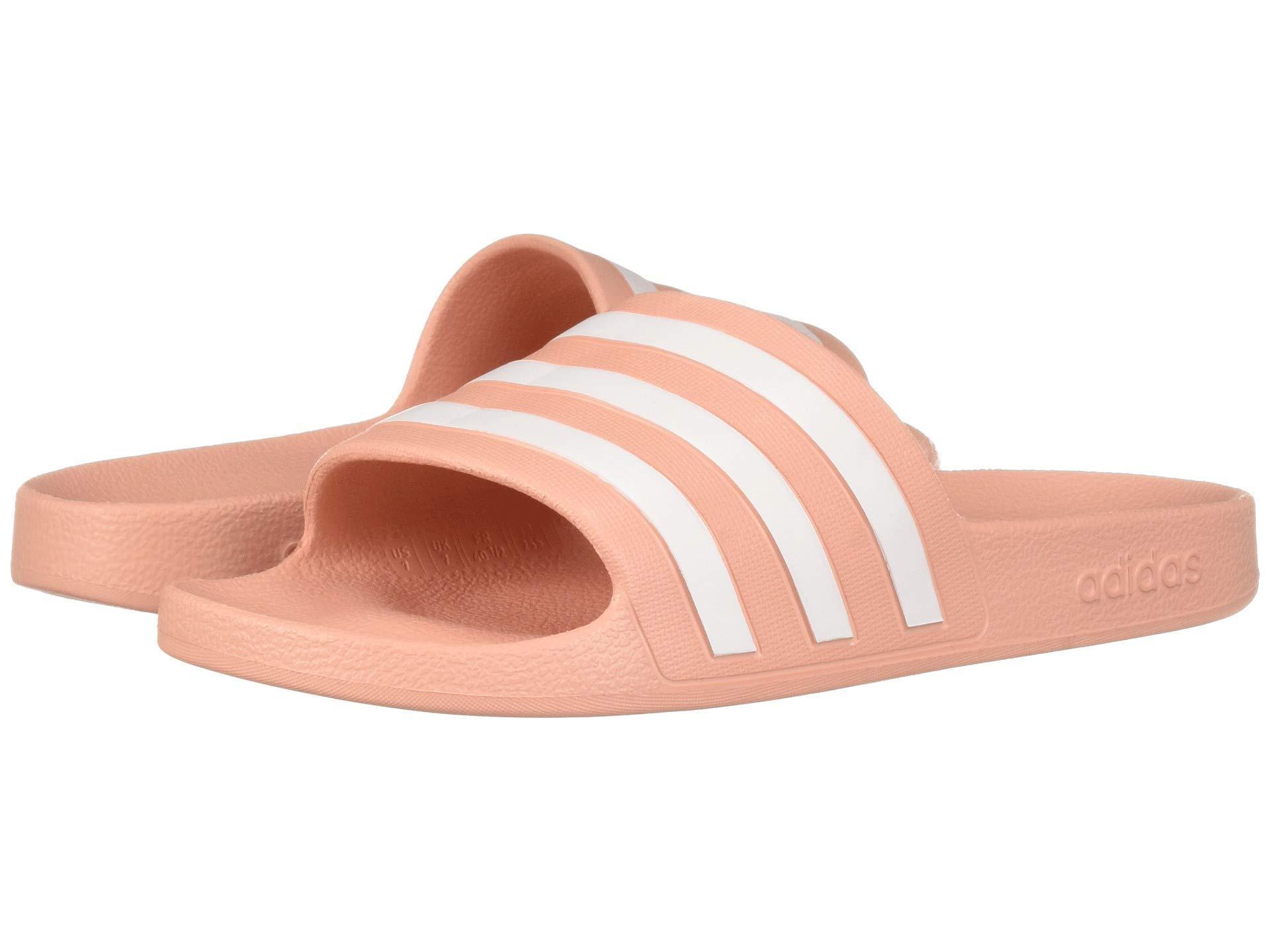 77c08f3b6753 Lyst - adidas Adilette Aqua (footwear White core Black footwear ...