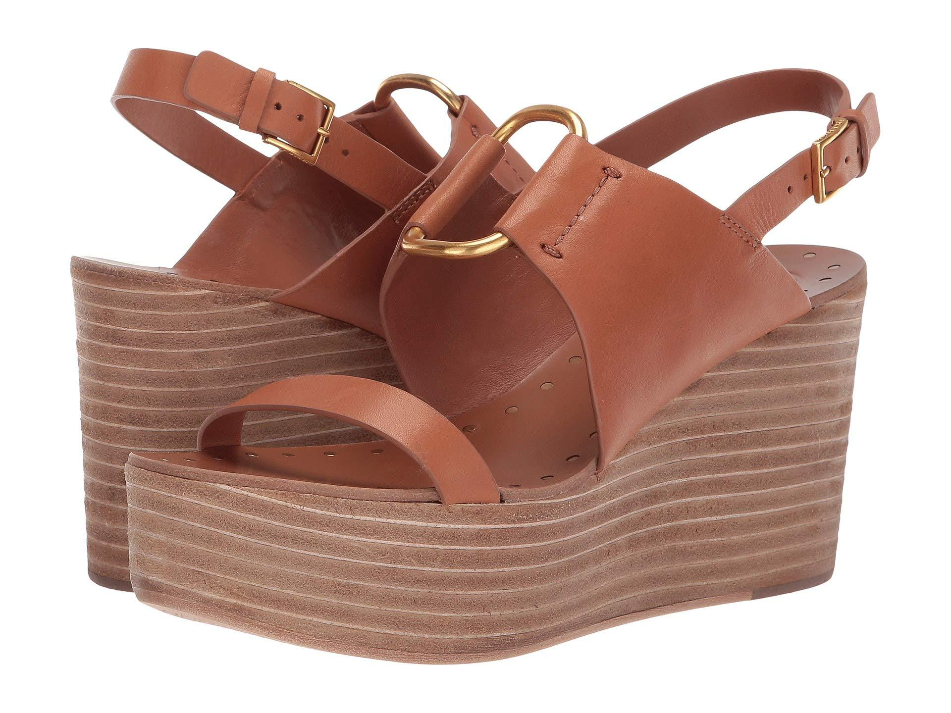 e74a6466f88 Lyst - Tory Burch 90 Mm Ravello Platform Wedge (tan) Women s Shoes ...