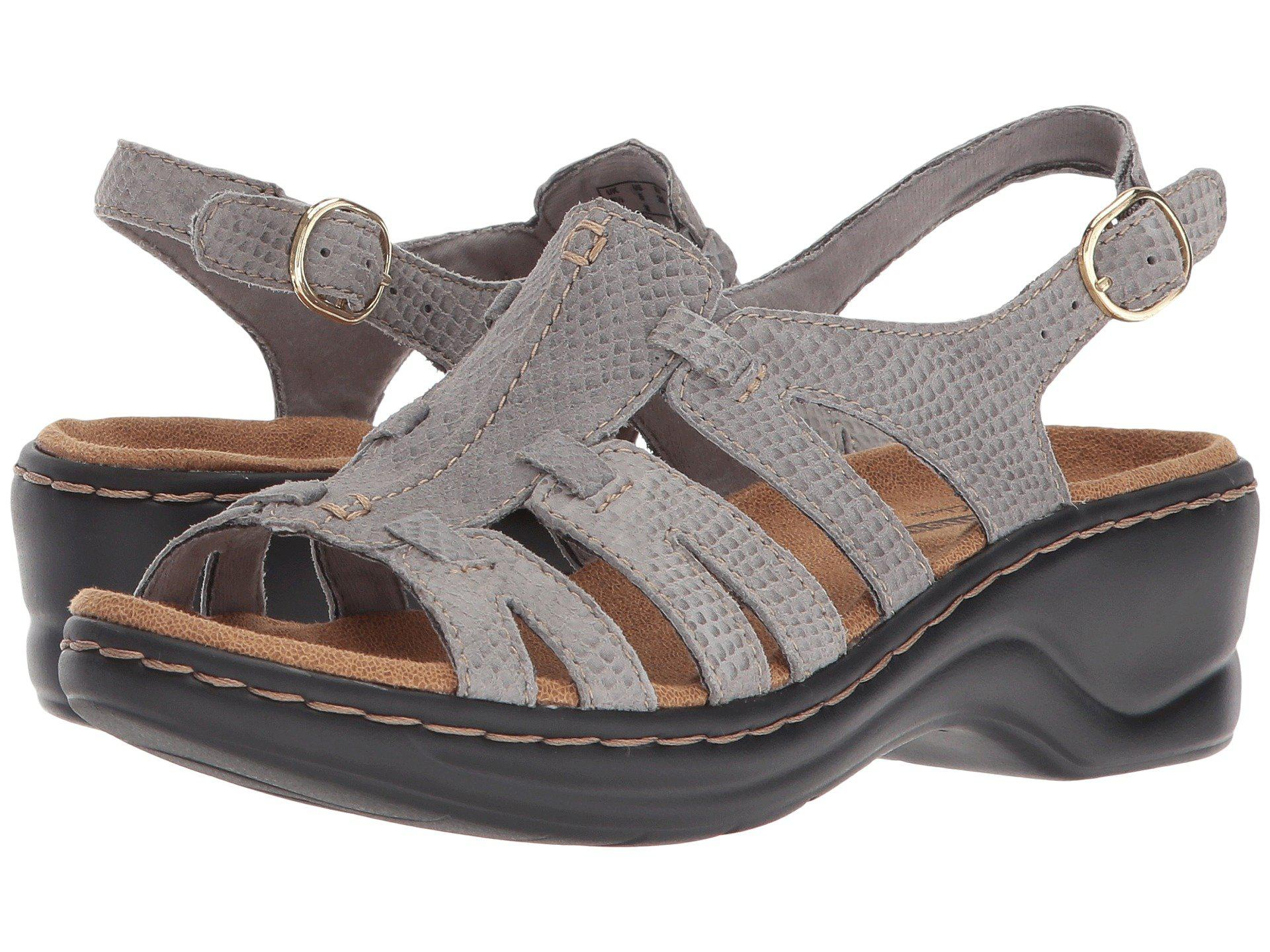 3a883810dfc Lyst - Clarks Lexi Marigold Q (pewter Leather) Women s Sandals in Gray