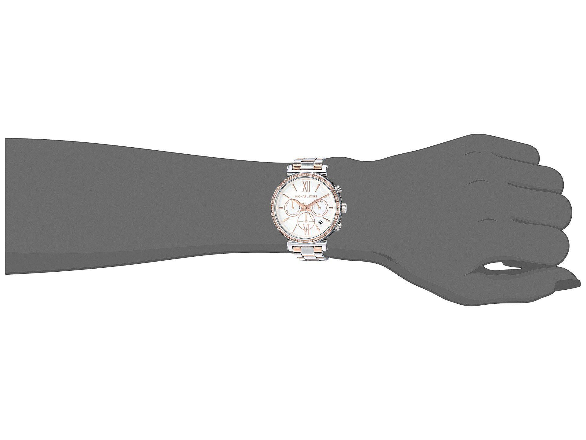 42b1d23d5862 Lyst - Michael Kors Mk6558 - Sofie (two-tone) Watches
