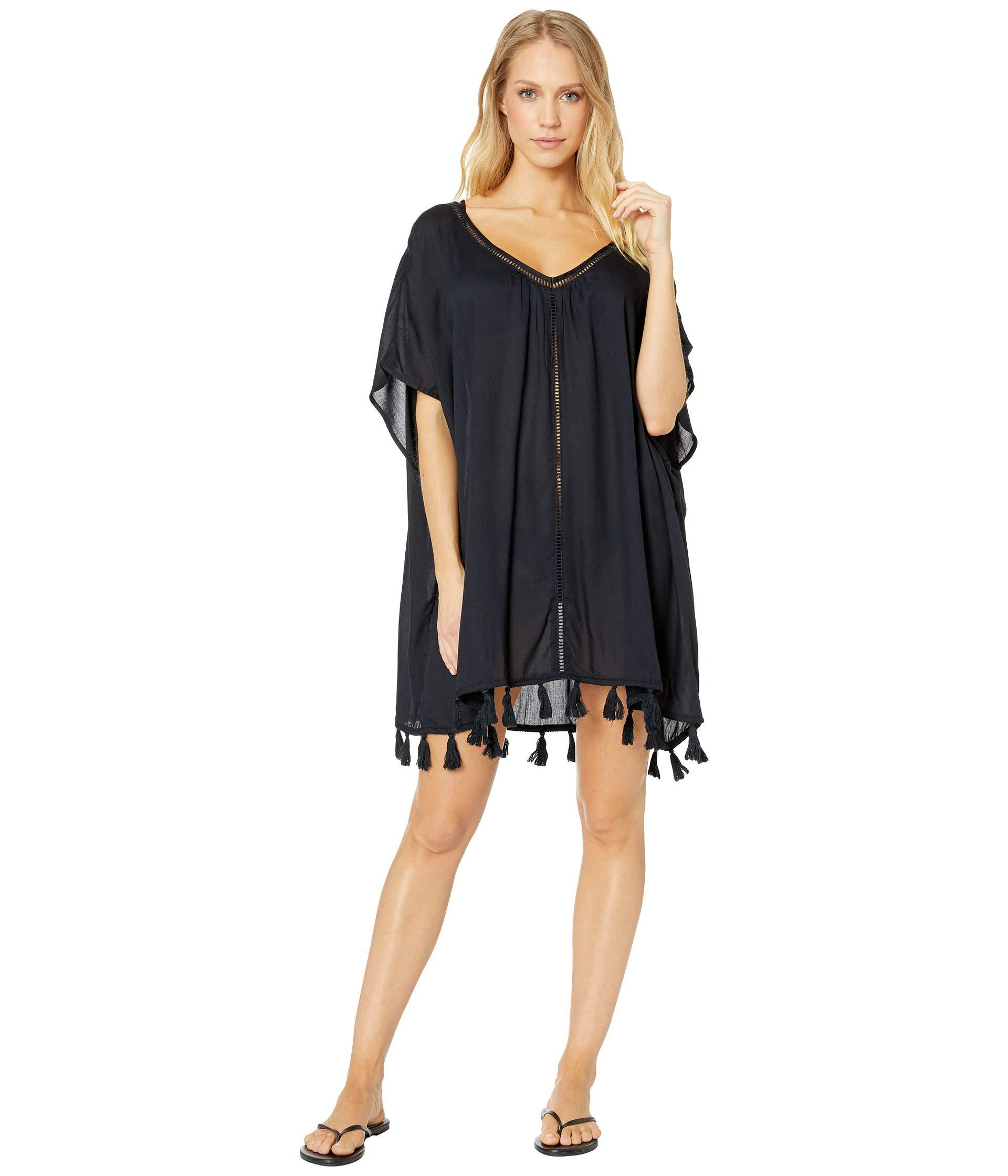 9632f2f4c98da Lyst - Roxy Poncho Cover-up Swimsuit Dress (true Black) Women s ...