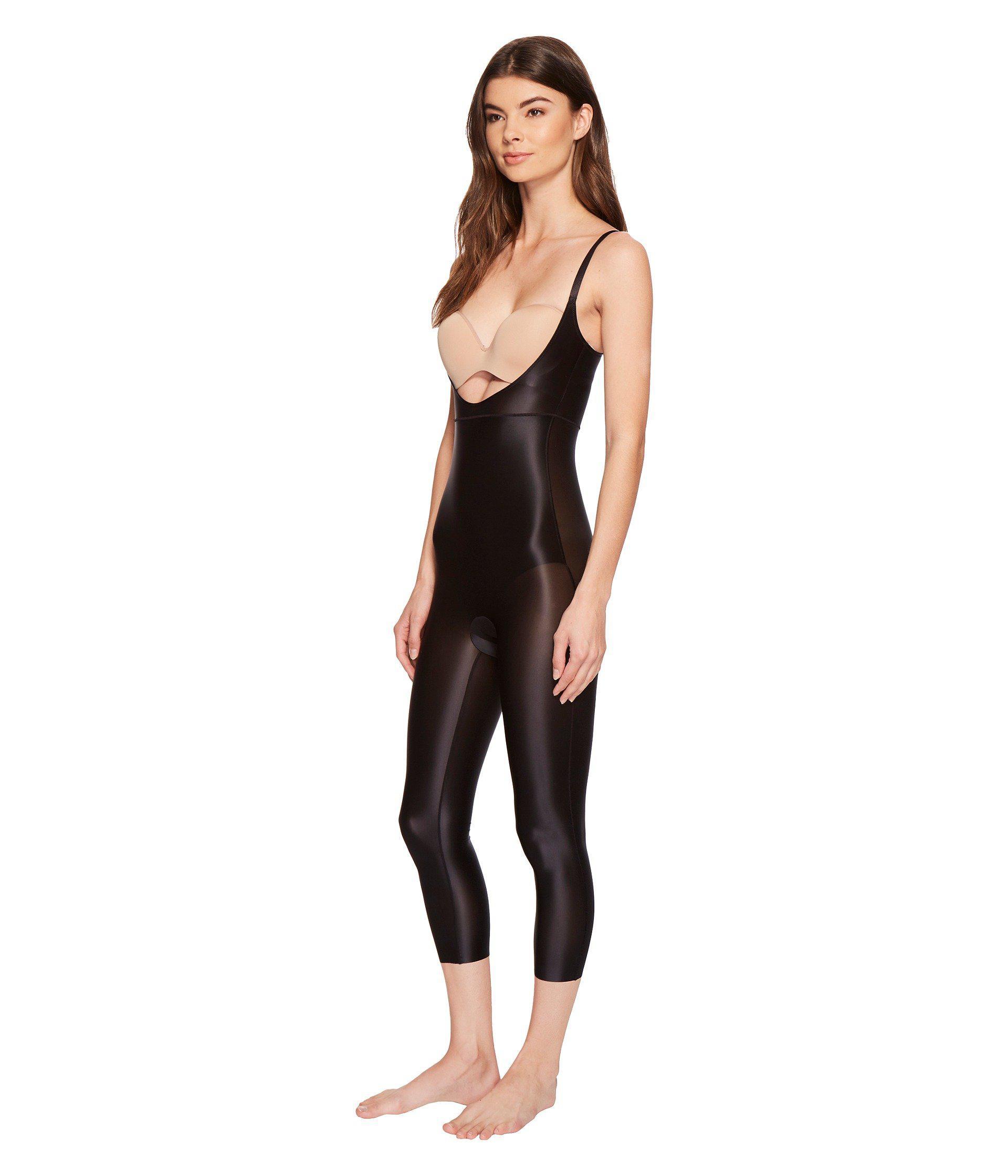 7ae7b68b71e Lyst - Spanx Suit Your Fancy Open-bust Catsuit (broadway Beige) Women s  Jumpsuit   Rompers One Piece in Black