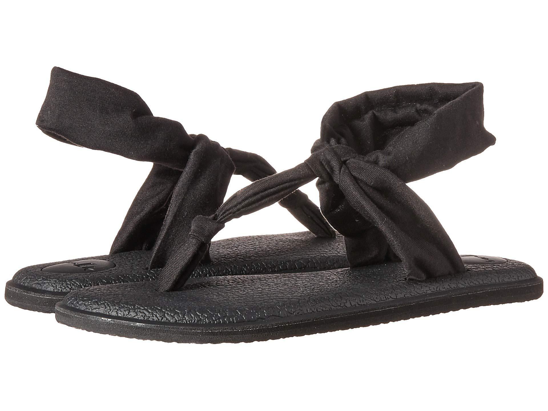 11f9bb82369dc Lyst - Sanuk Yoga Sling Ella (navy Peony) Women s Sandals in Black