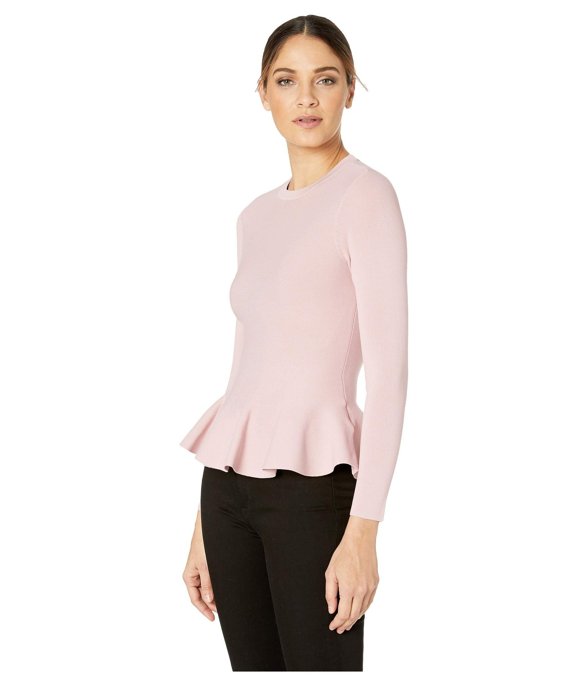 4e4cc46335b75 Lyst - Ted Baker Hinlina Knitted Jumper (dusty Pink) Women s Clothing in  Pink