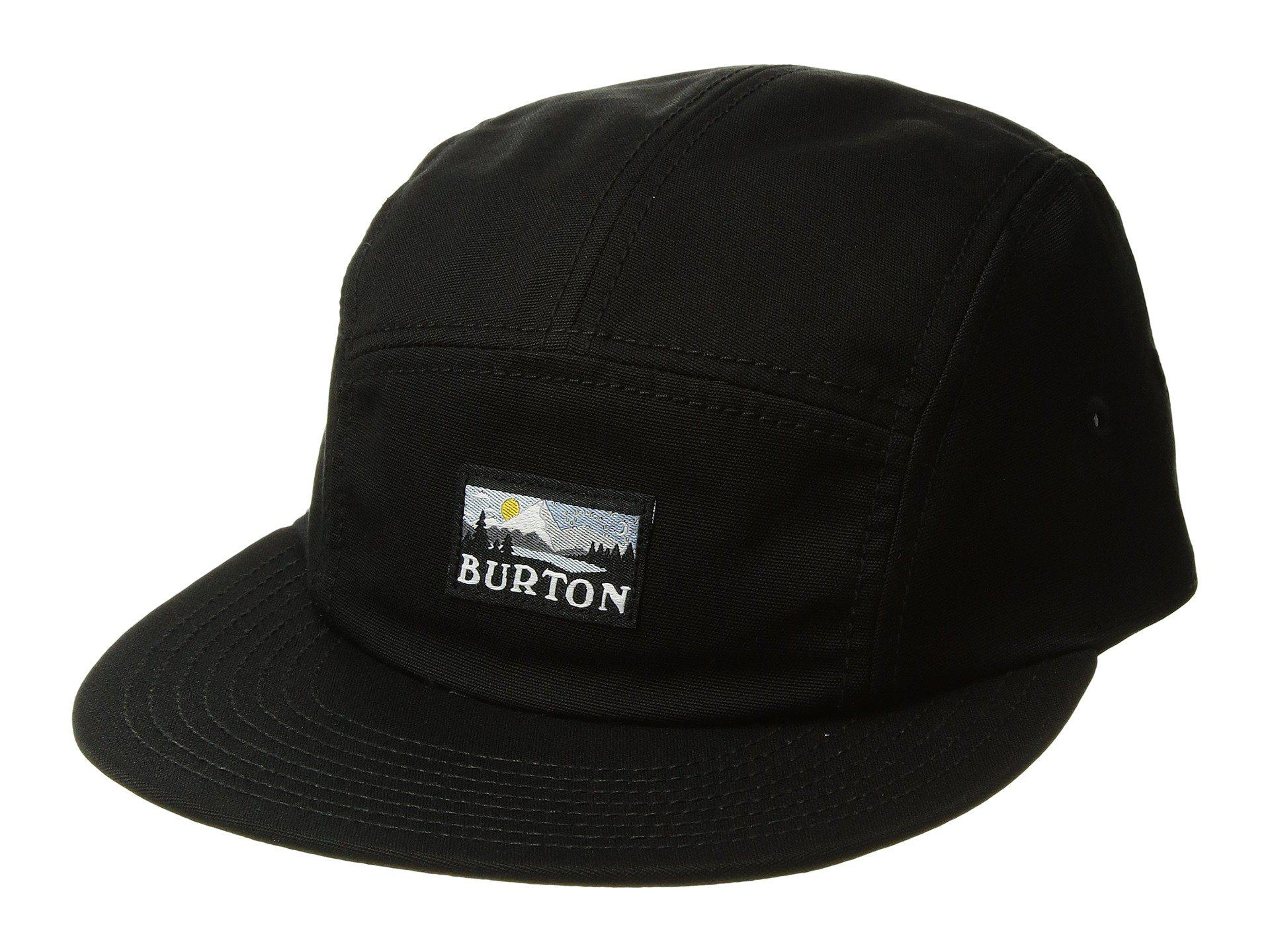 11c58c229 Burton Cordova 5 Panel Hat in Black for Men - Lyst