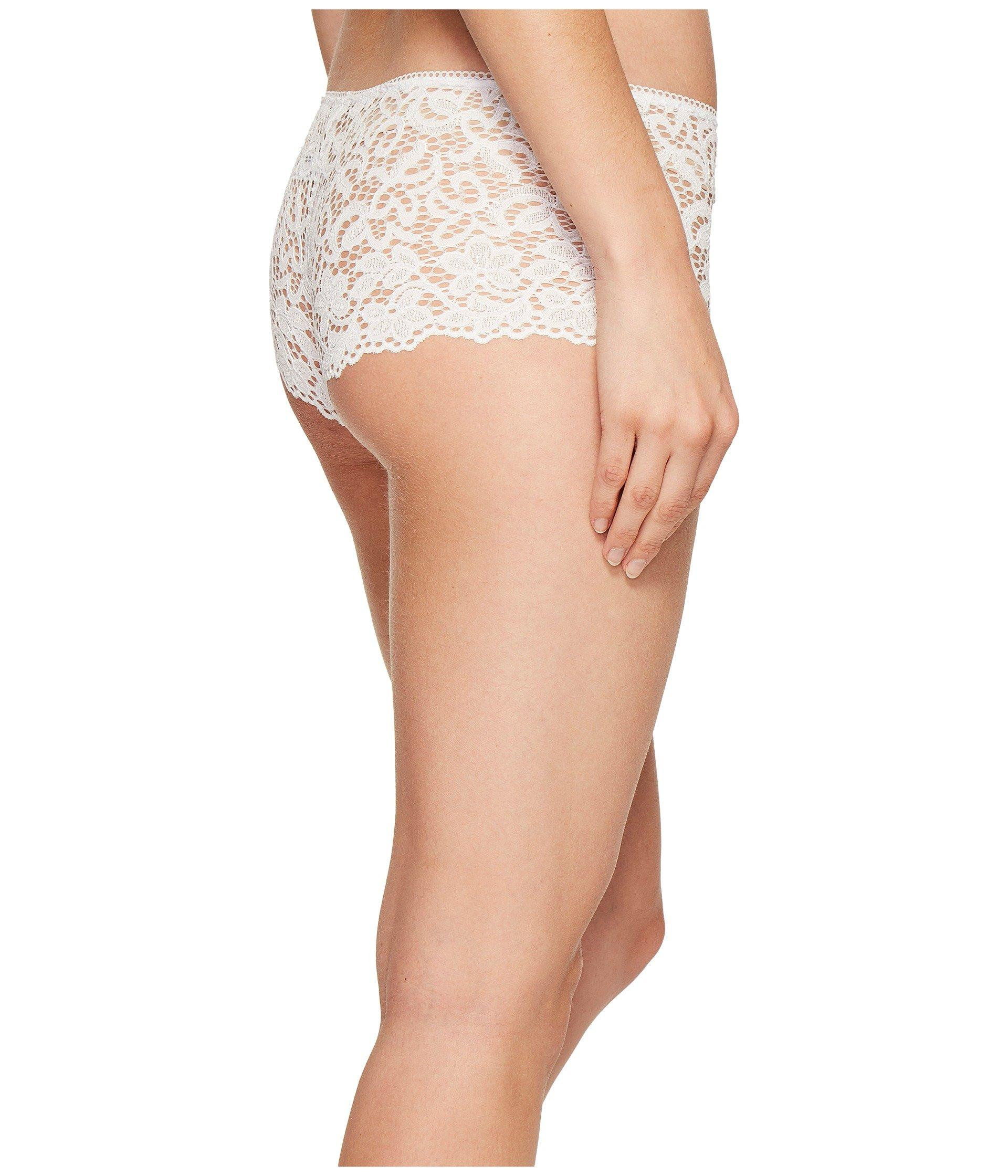 df7bee6002c DKNY Classic Lace Cheeky Boyshorts in White - Save 37% - Lyst