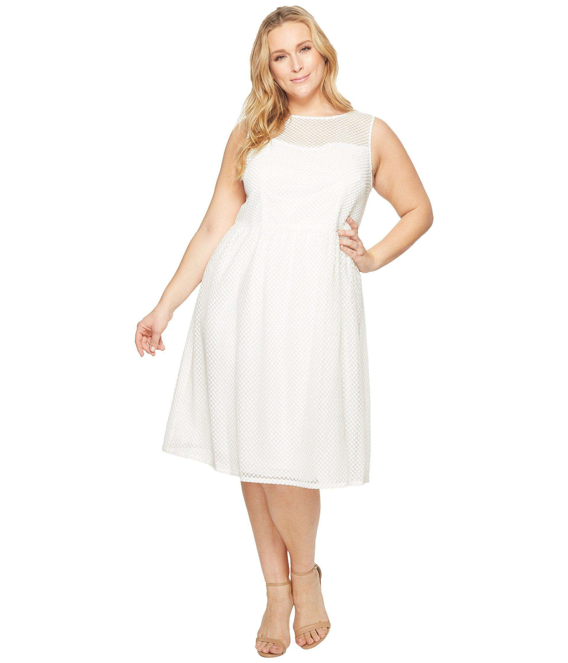 Lyst Adrianna Papell Plus Size Embroidered Diamonds Fit And Flare