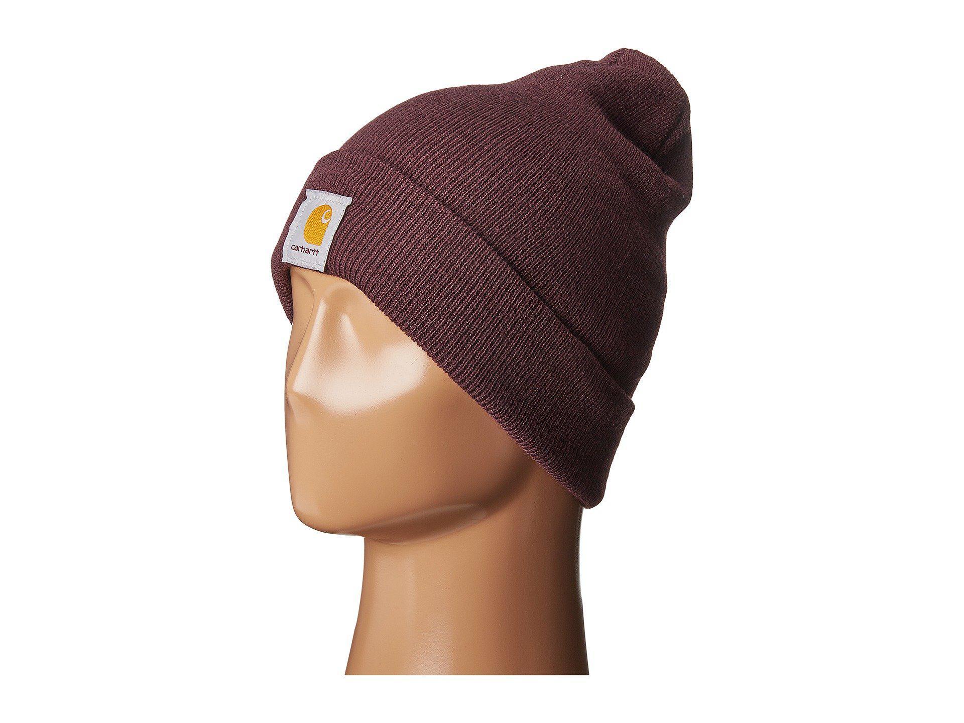 b5cae549619 Lyst - Carhartt Acrylic Watch Hat (deep Wine) Caps