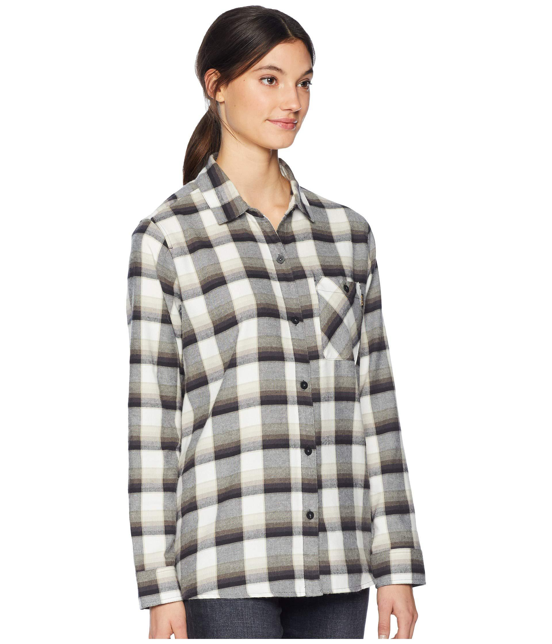 8c8c78c6 Burton - Multicolor Grace Flannel (true Black Sunset Plaid) Women's  Clothing - Lyst. View fullscreen