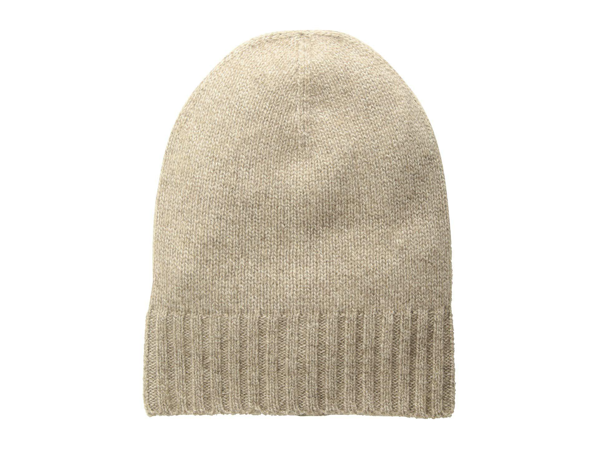 1a0f871615 Lyst - Hat Attack Cashmere Slouchy cuff Hat (ivory) Knit Hats in Natural