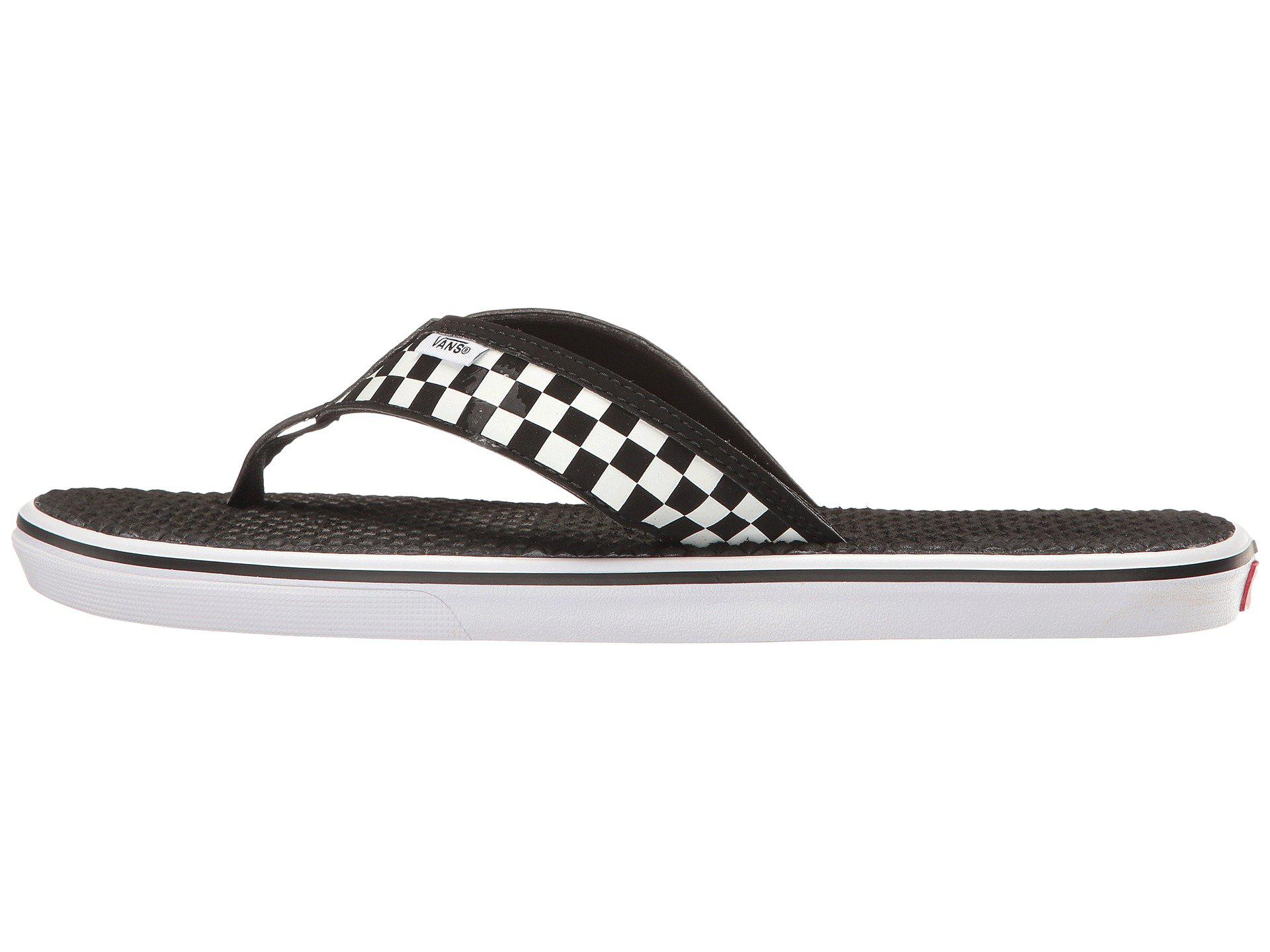 7bb18b5dd1 Lyst - Vans La Costa Lite ((checkerboard) Black white) Men s Sandals in  Black for Men
