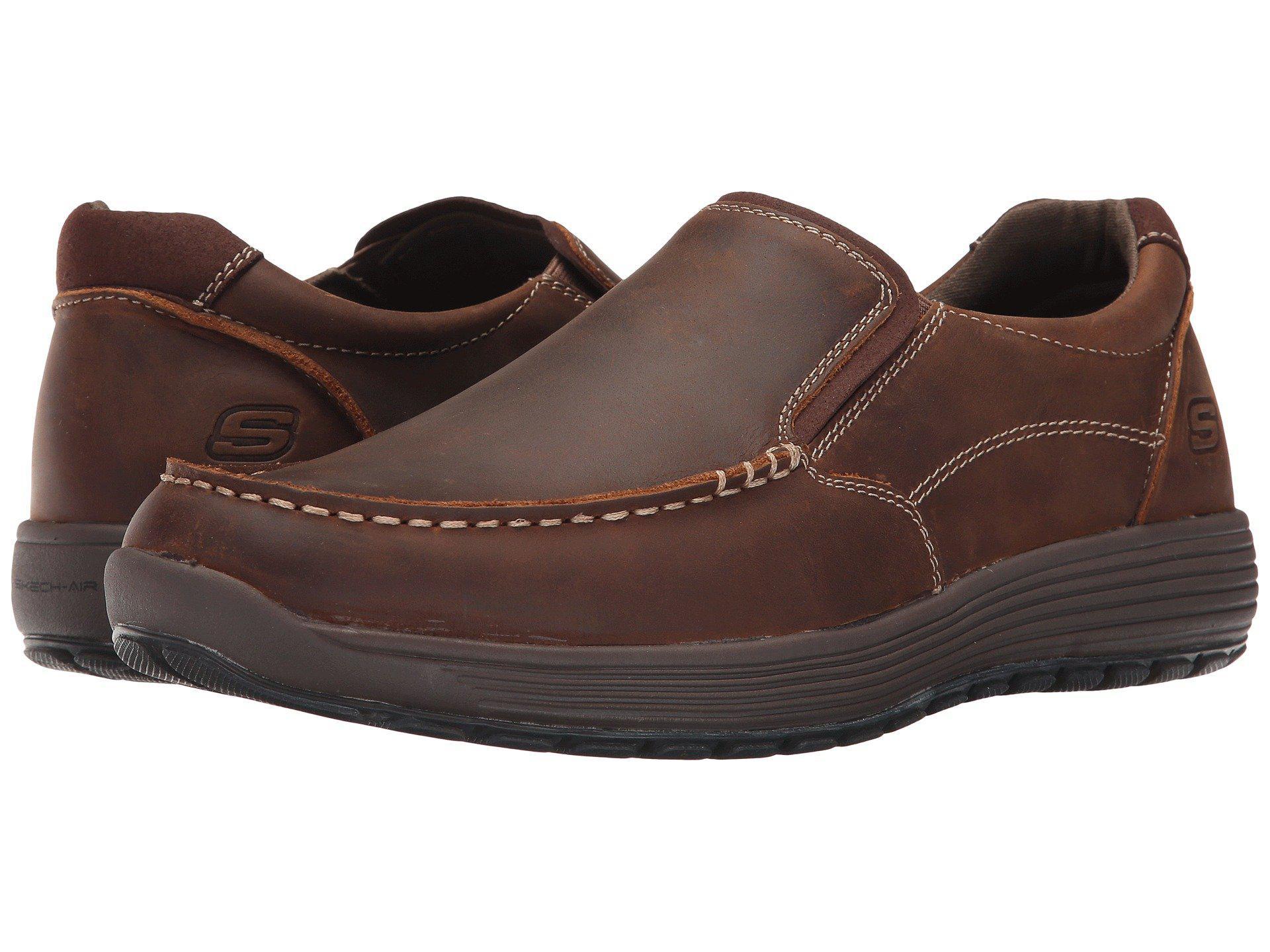 c7b40cebd Skechers Classic Fit Venick (black) Men's Slip On Shoes in Brown for ...