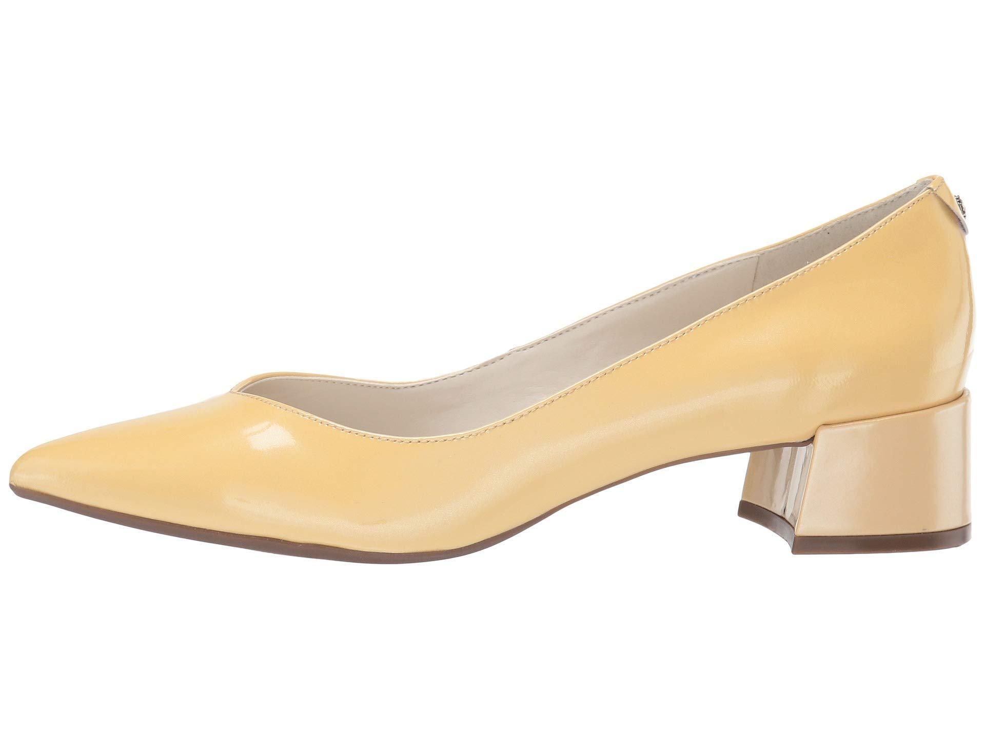 1edcd90a80f9 Lyst - Anne Klein Norwood Block Kitten Heel (light Yellow) Women s Shoes in  Yellow
