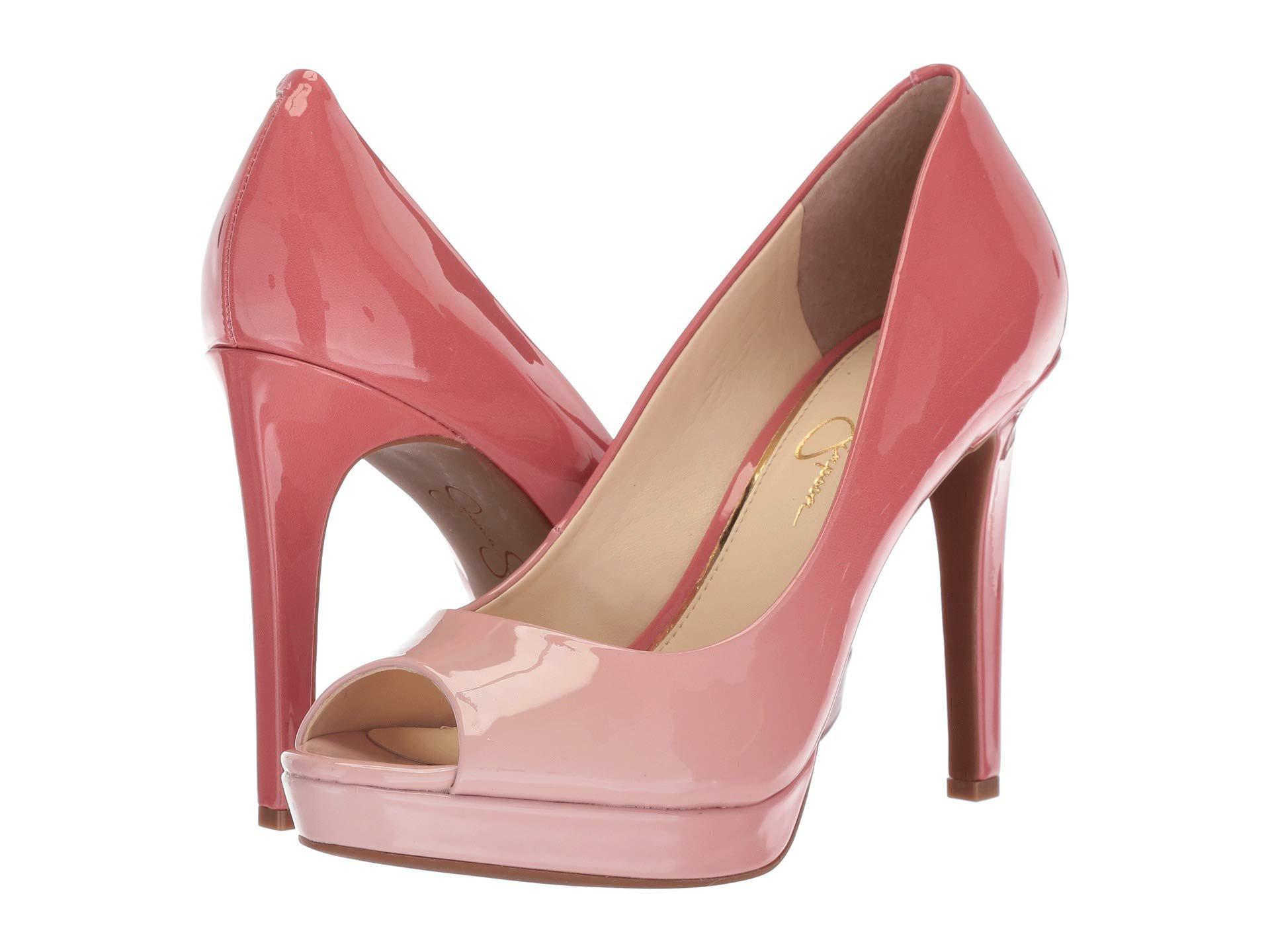 62148cf9cb Jessica Simpson Dalyn (black Lux Kid Suede) High Heels in Pink - Lyst