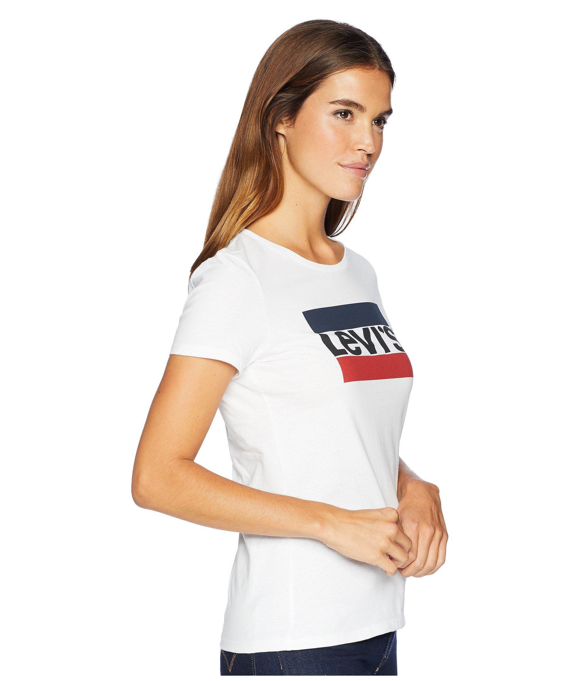 9b602f8d9d1a Levi's Levi's(r) Womens Slim Crew Neck Tee (sportswear Logo Medieval ...