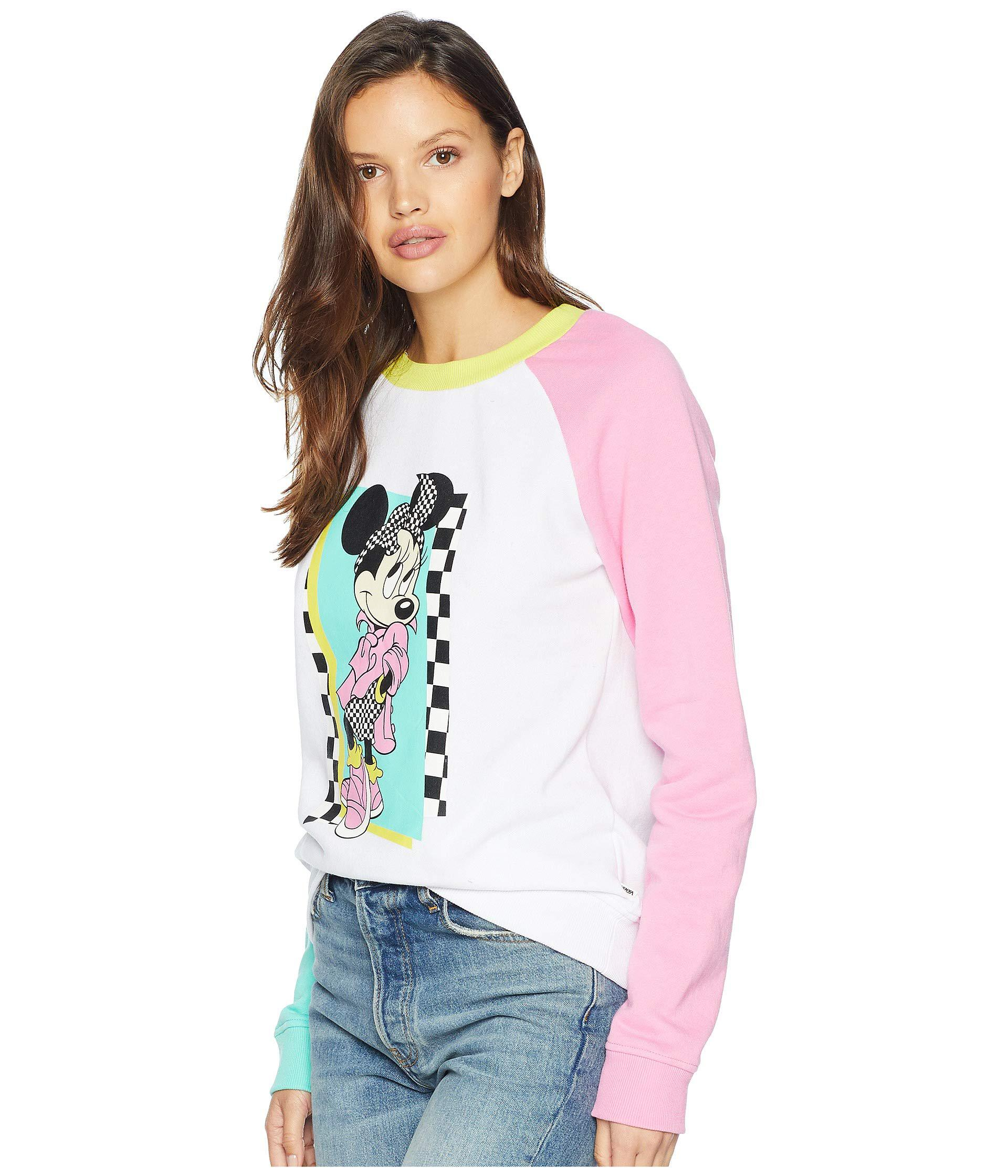 80ab60744a Lyst - Vans Mickey s 90th Hyper Minnie Crew Fleece (white) Women s ...