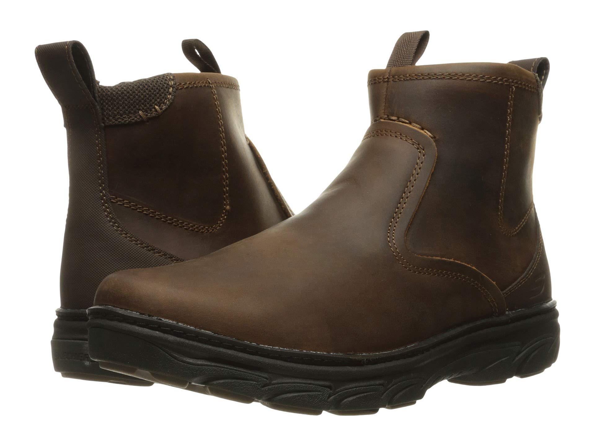0102c905193e57 Lyst - Skechers Relaxed Fit Resment Korver (dark Brown) Men s Boots ...