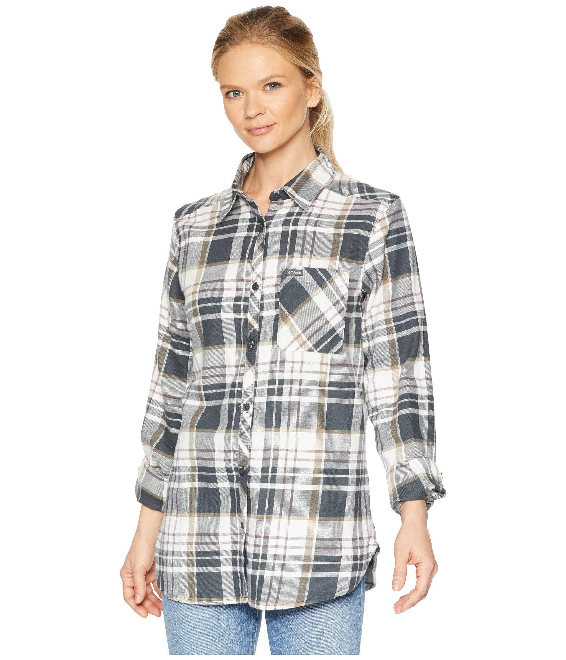 c3b1df2c7 Columbia. Gray Simply Puttm Ii Flannel Shirt (cactus Pink Check) Women's  Long Sleeve Button Up