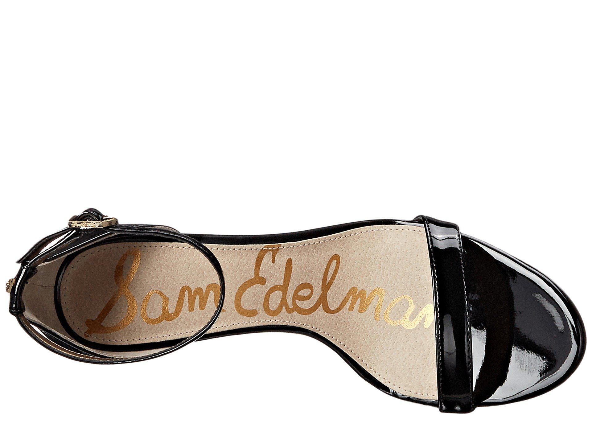 af71818e7c59 Sam Edelman - Black Patti Strappy Sandal Heel (light Gold Leather) High  Heels -. View fullscreen