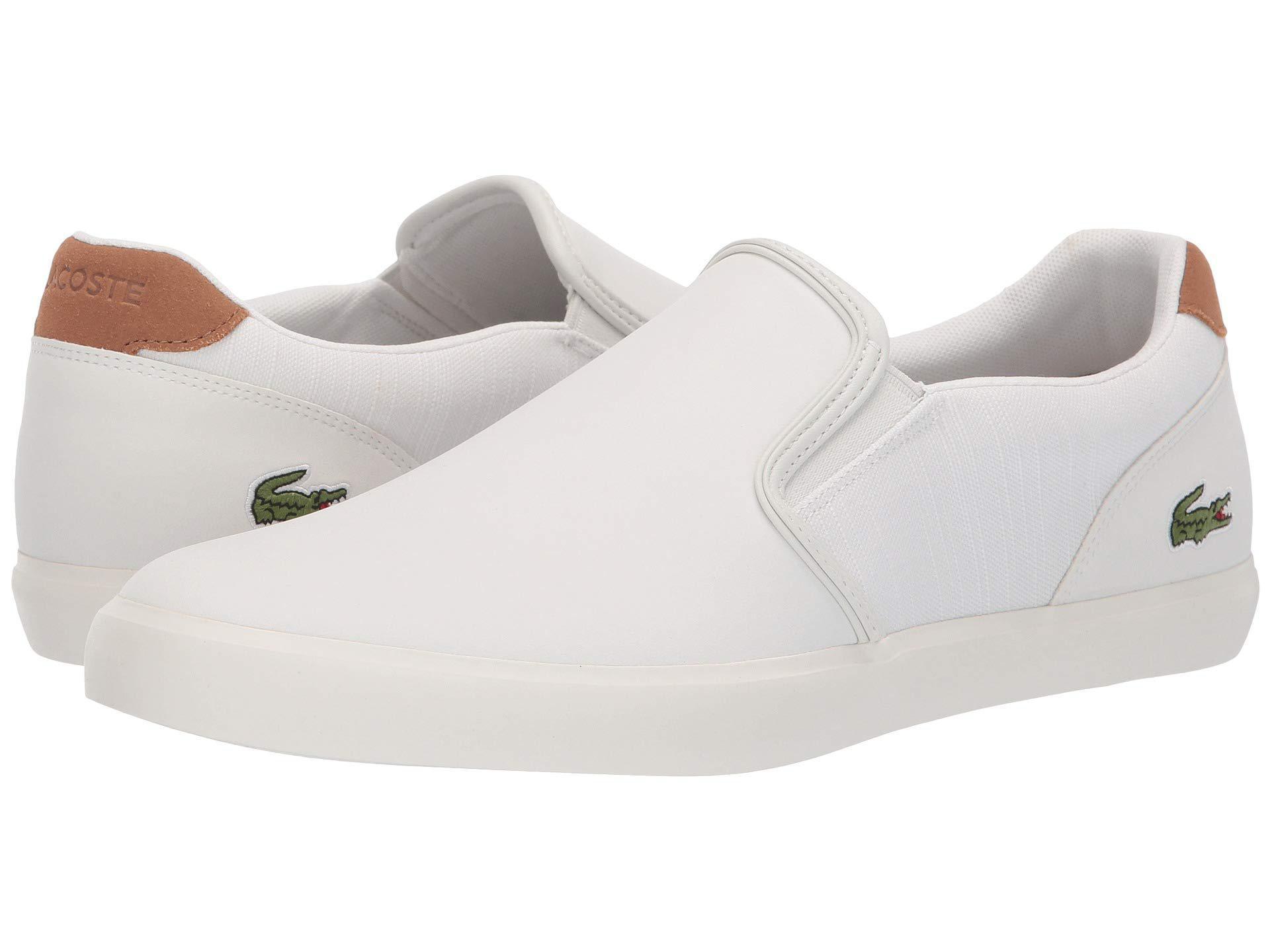 dec8e2174 Lacoste - Jouer Slip 119 2 (off-white light Brown) Men s Shoes. View  fullscreen