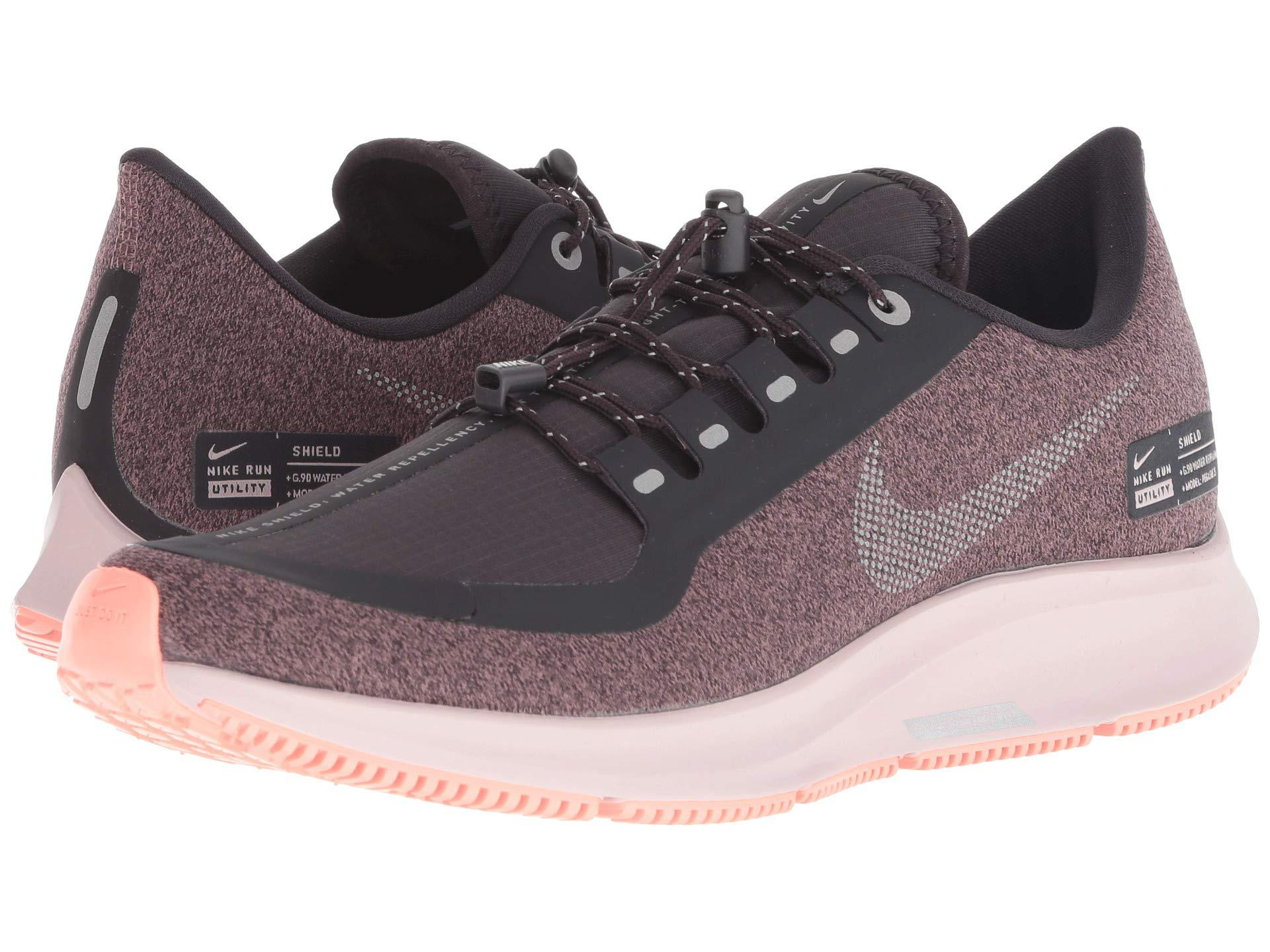 3a7a3793e831 Nike. Air Zoom Pegasus 35 Shield (oil Grey metallic Silver smokey Mauve) Women s  Running Shoes