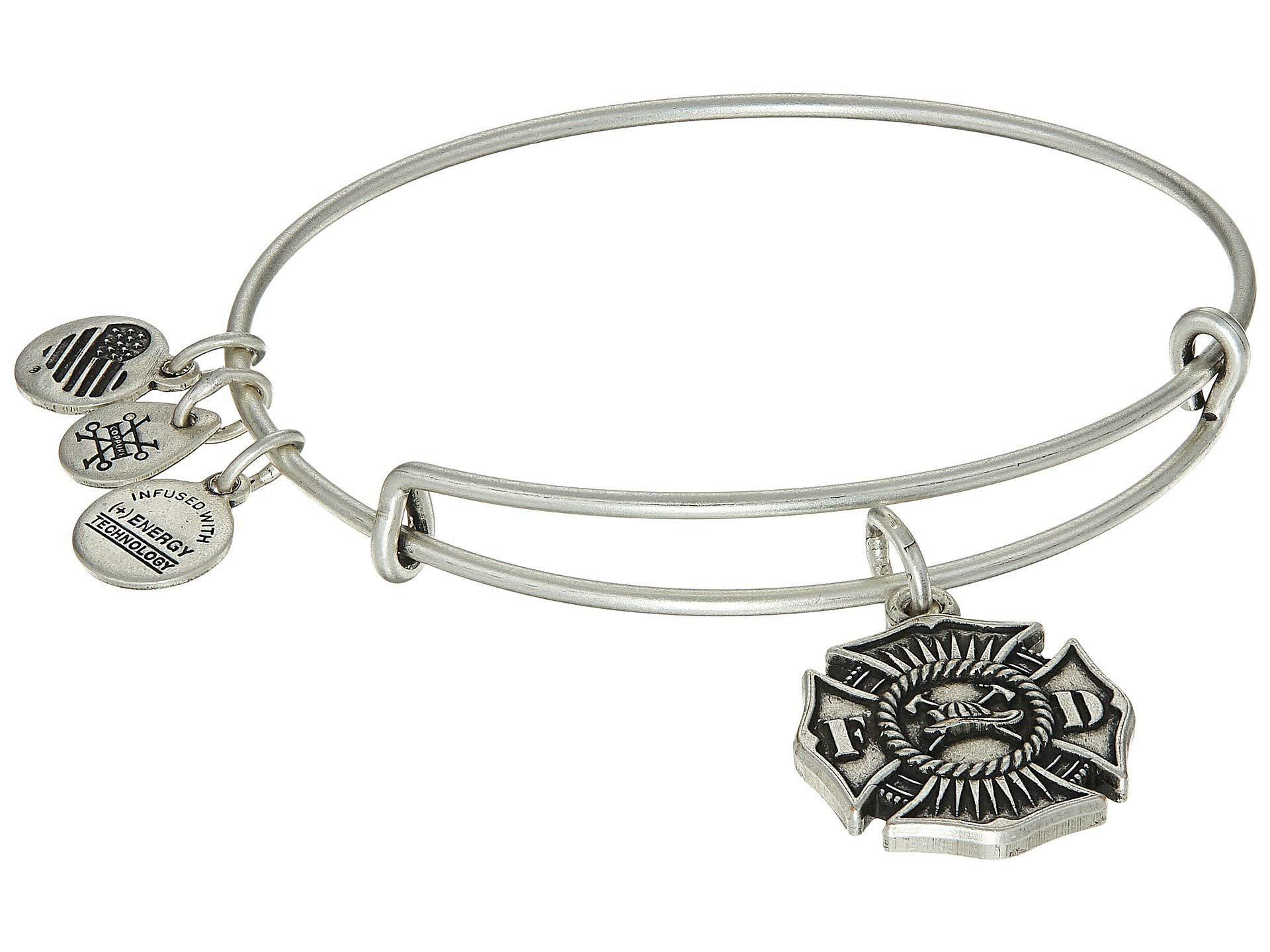 Alex And Ani Women S Metallic Firefighter Bangle