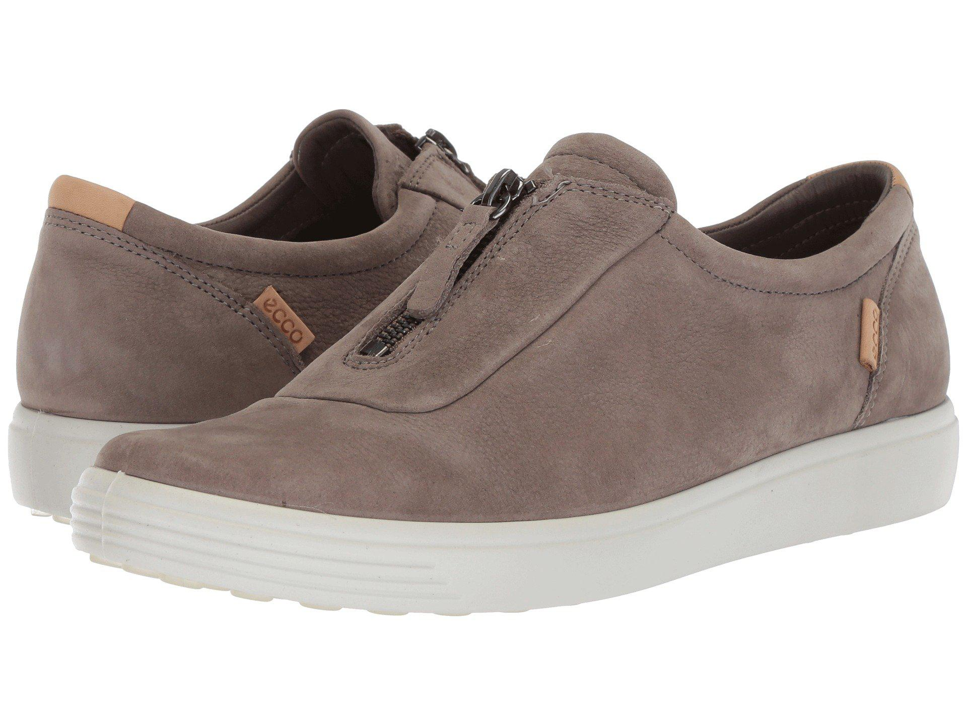 2175e83d862 Ecco - Gray Soft 7 Zip (black Cow Nubuck) Women s Shoes - Lyst. View  fullscreen