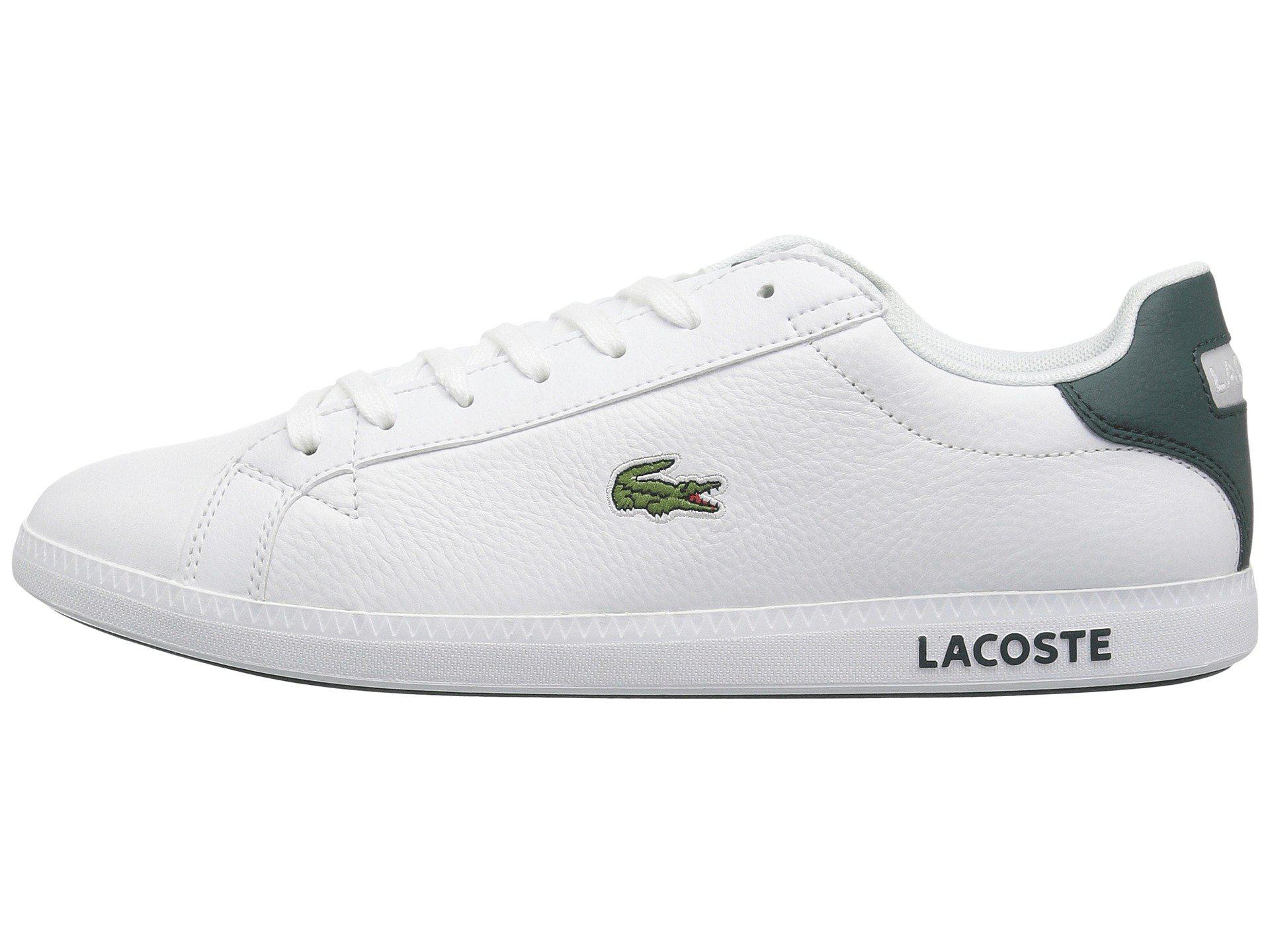 91a22a96672 Lyst - Lacoste Graduate Lcr3 118 1 (white dark Green) Men s Shoes in White  for Men