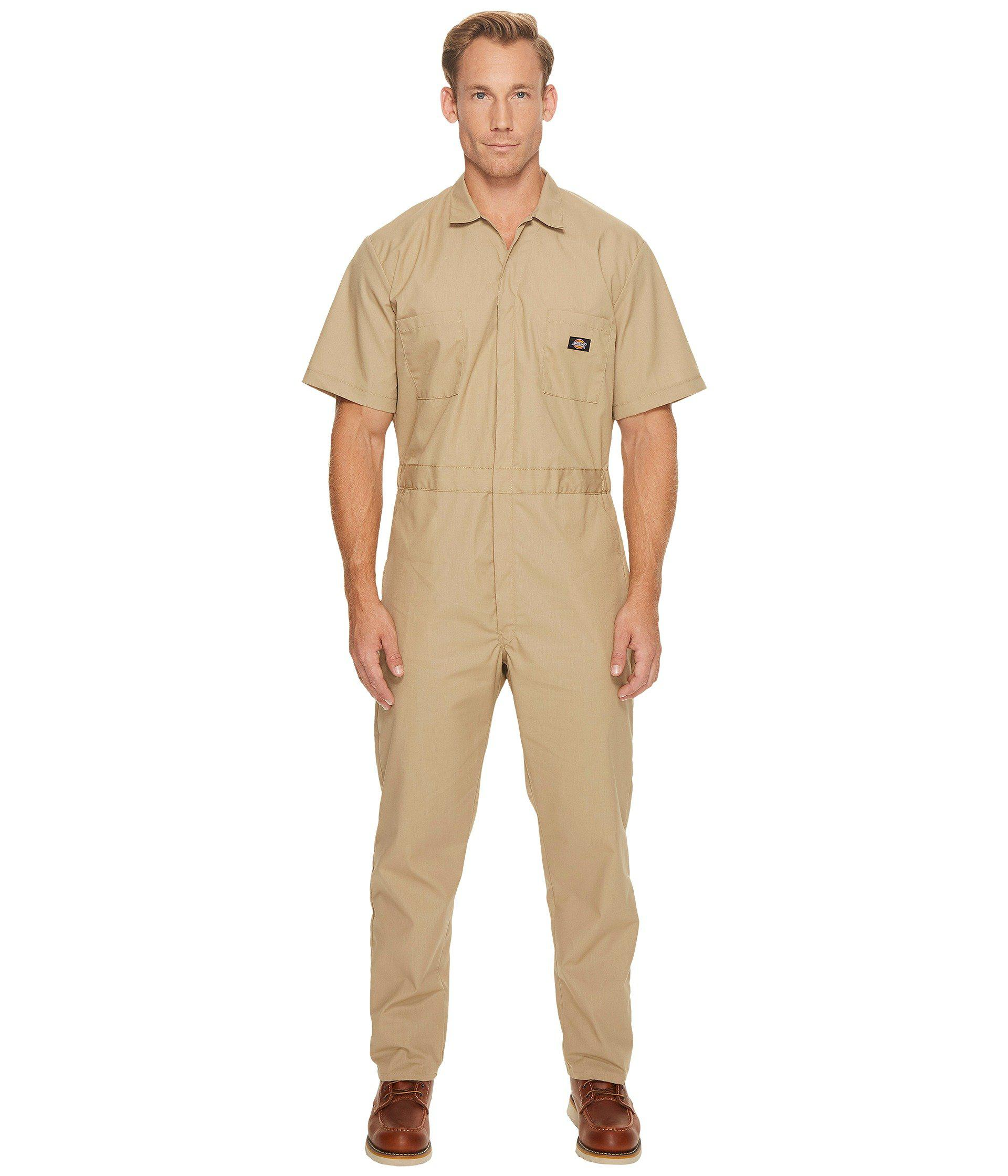 Dickies. Natural Short Sleeve Coveralls (gray) Men s Overalls One Piece 1272d257834