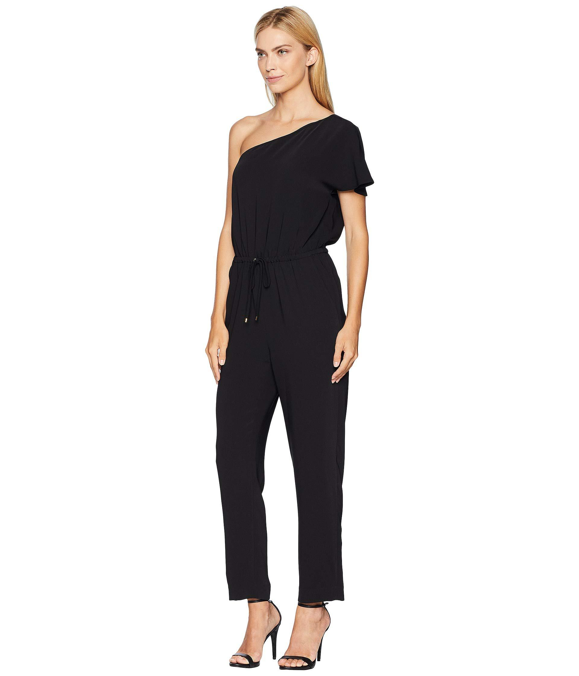 794d78a8c481 Lyst - Lauren by Ralph Lauren Twill One-shoulder Jumpsuit (polo ...