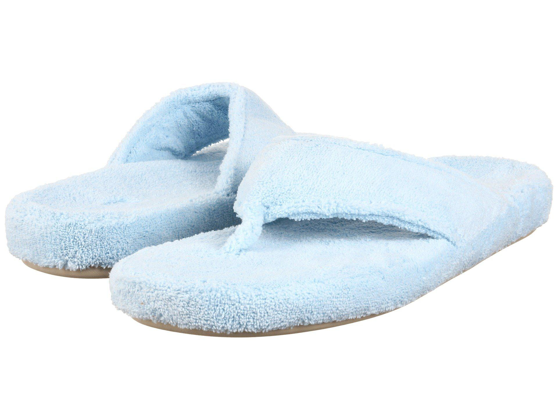 d8b3abe722a3 Lyst - Acorn New Spa Thong (periwinkle) Women s Slippers in Natural