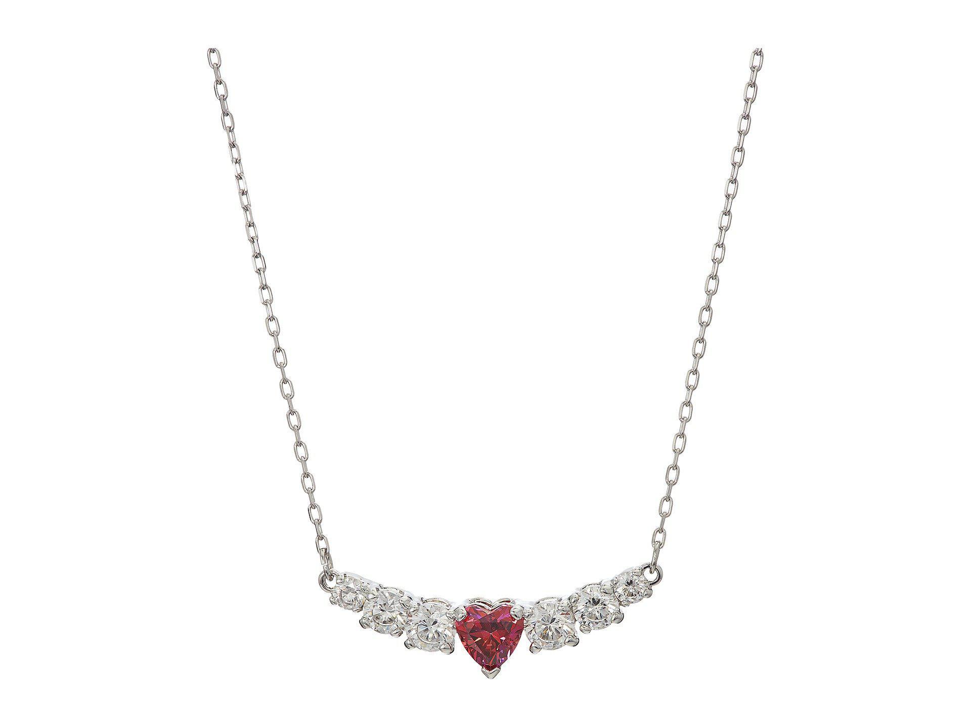 67037e8dd5c76b Swarovski. Women s Love Necklace (rhodium Plating white) Necklace