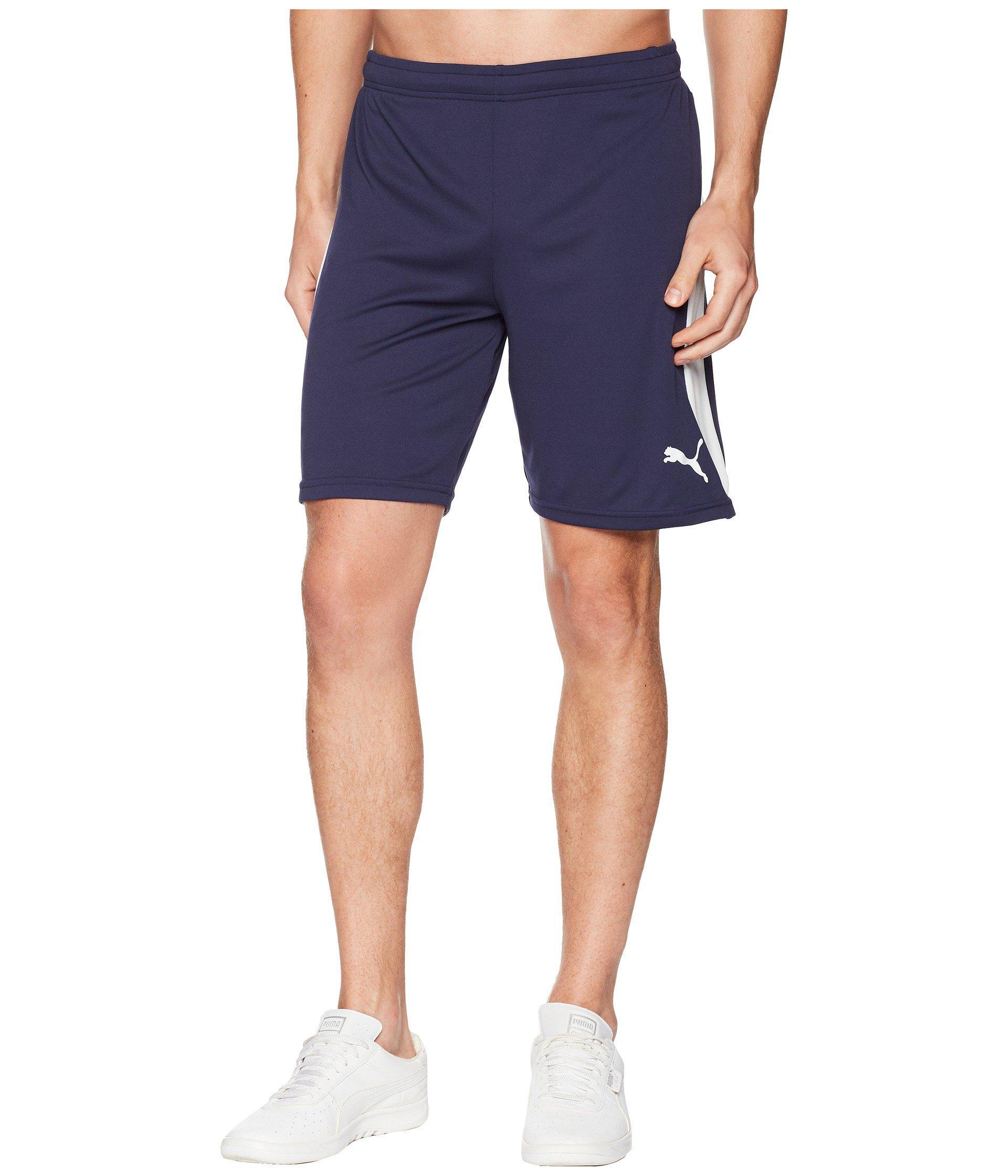9dd9b79e336a Lyst - PUMA Liga Shorts ( Red  White) Men s Shorts in Blue for Men ...