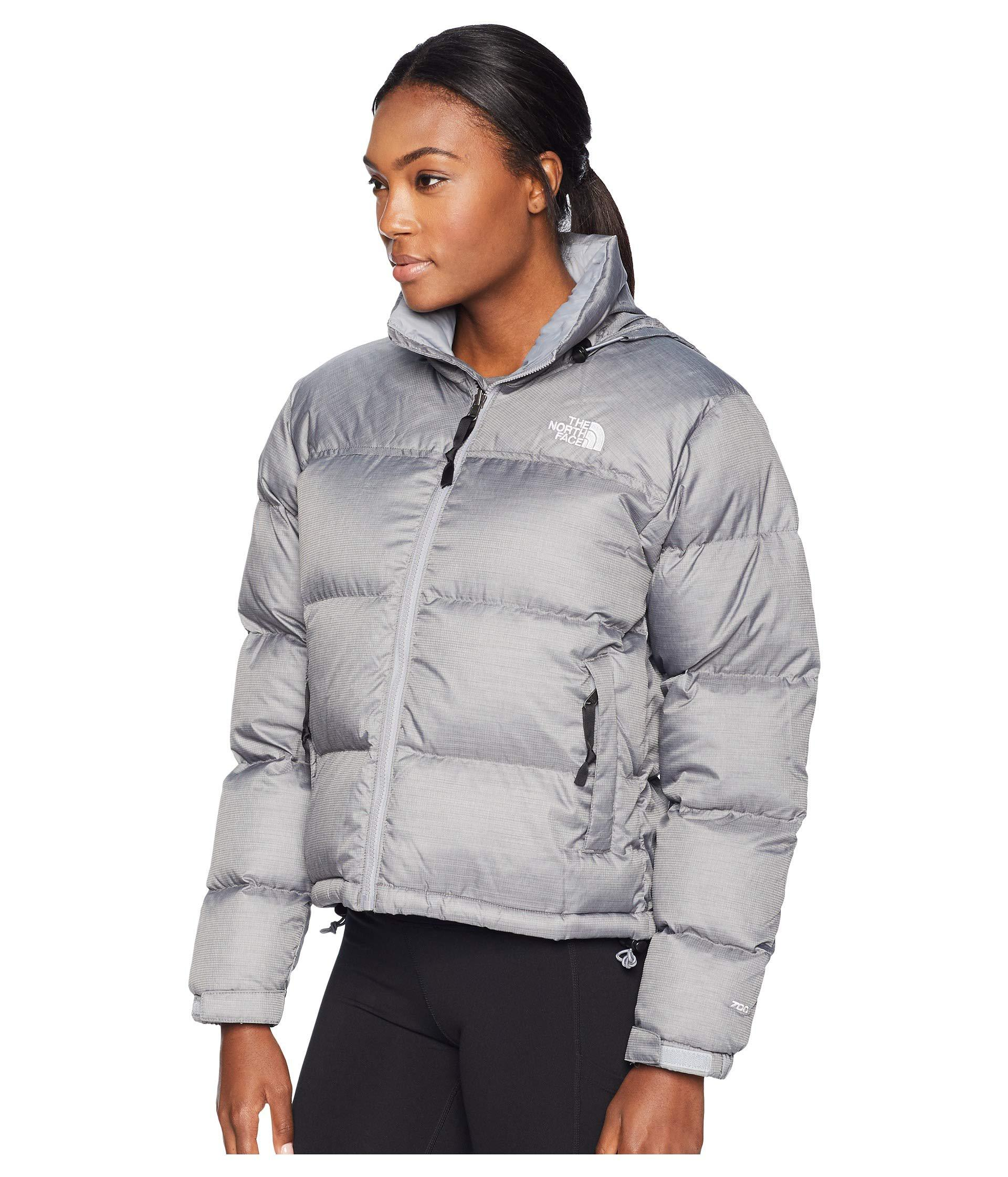 Lyst - The North Face 1996 Retro Nuptse Jacket (tnf White) Women s Coat in  Gray 23560af0f