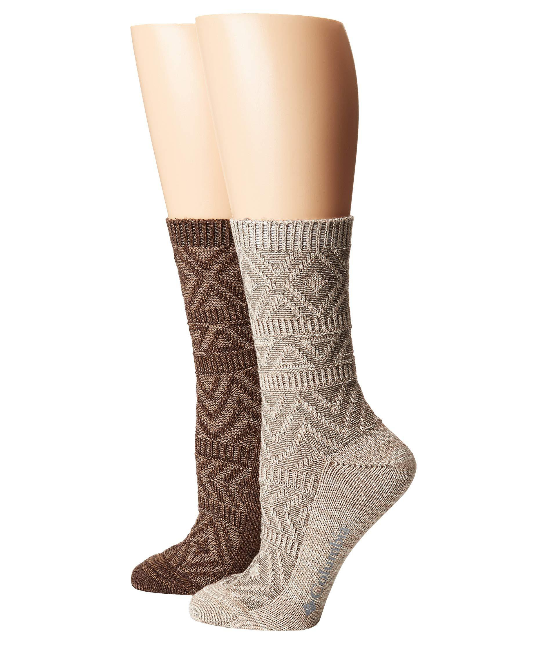 35d819d14e12 Lyst - Columbia Super Soft Texture Crew 2-pack (khaki brown) Women s ...