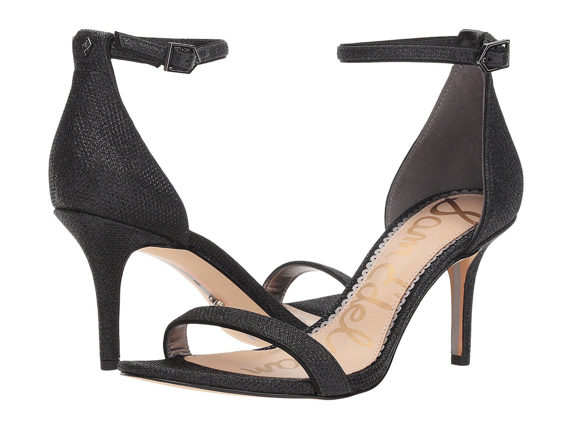 84f430160 Lyst - Sam Edelman Patti Strappy Sandal Heel (black Patent) High Heels