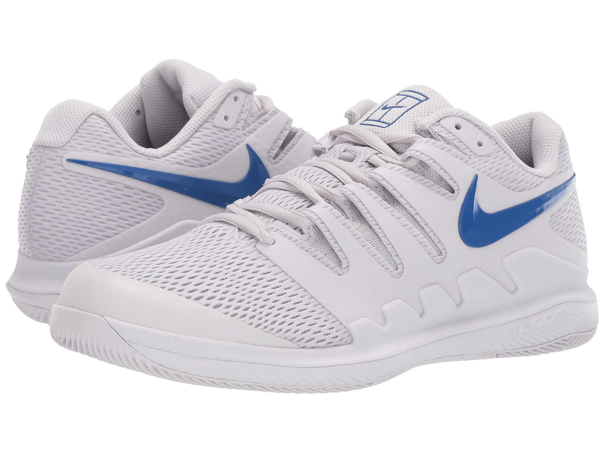 best loved ded0f 73fbc Nike. Gray Air Zoom Vapor X (black white bright Crimson) Men s Tennis Shoes