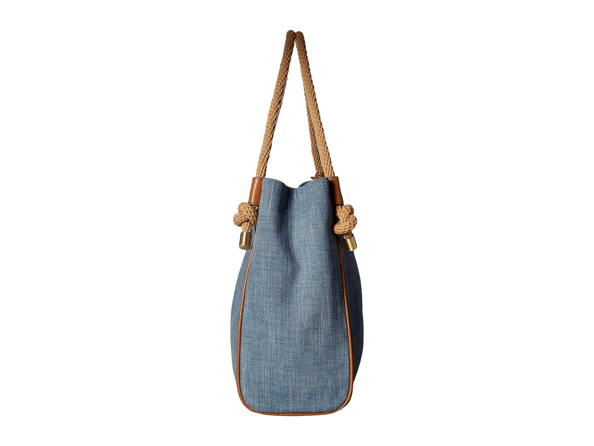 3829455b8047b MICHAEL Michael Kors - Blue Isla Large Grab Bag (washed Denim) Tote Handbags  -. View fullscreen