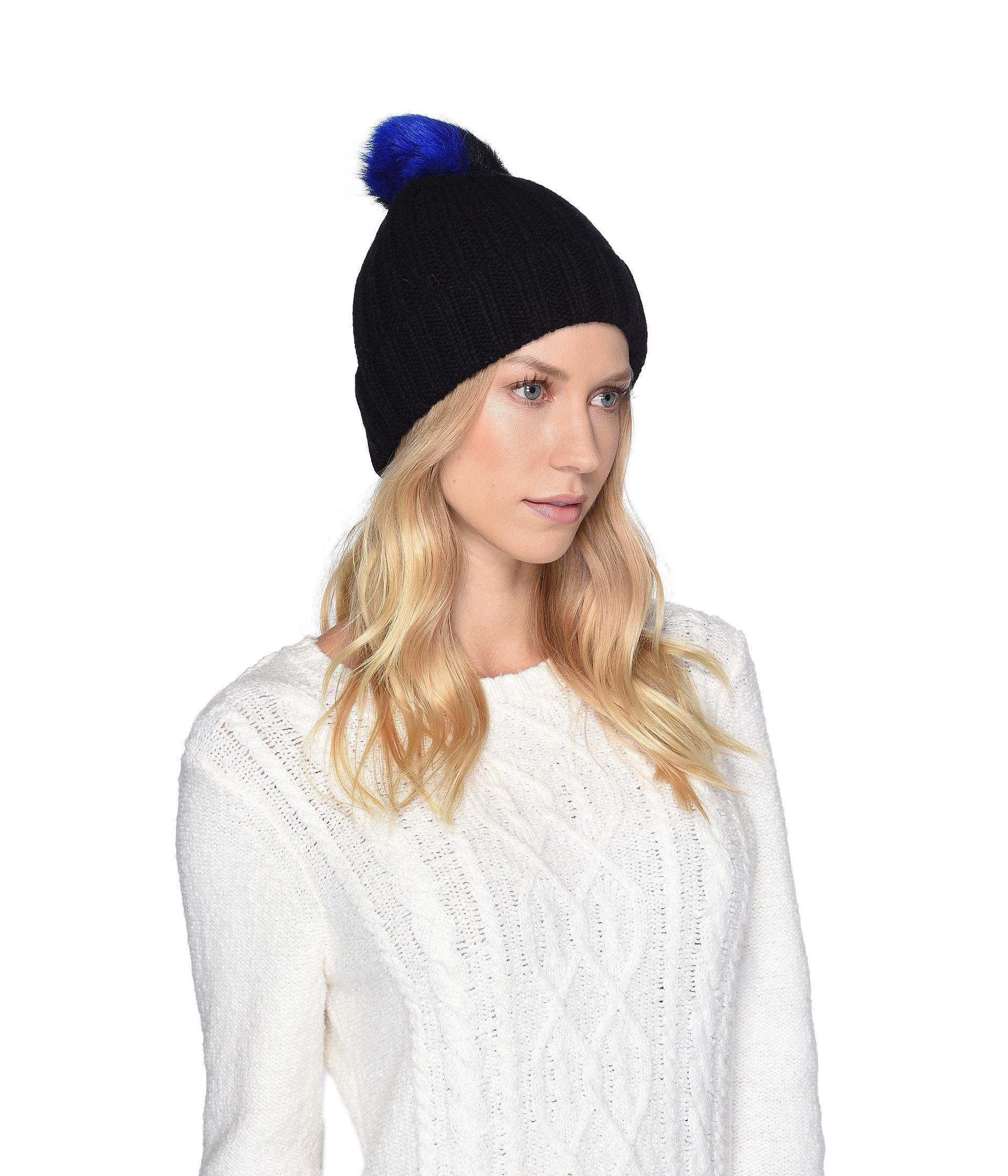 Lyst - UGG Multicolored Sheepskin Pom Knit Hat (black Multi) Caps in ... a49f5ca729dc