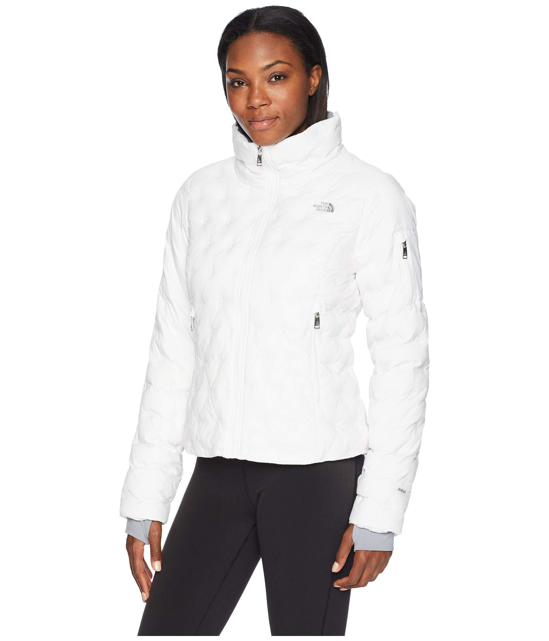 e4cd3cfc179 Lyst - The North Face Holladown Crop Jacket (asphalt Grey) Women s Coat in  White